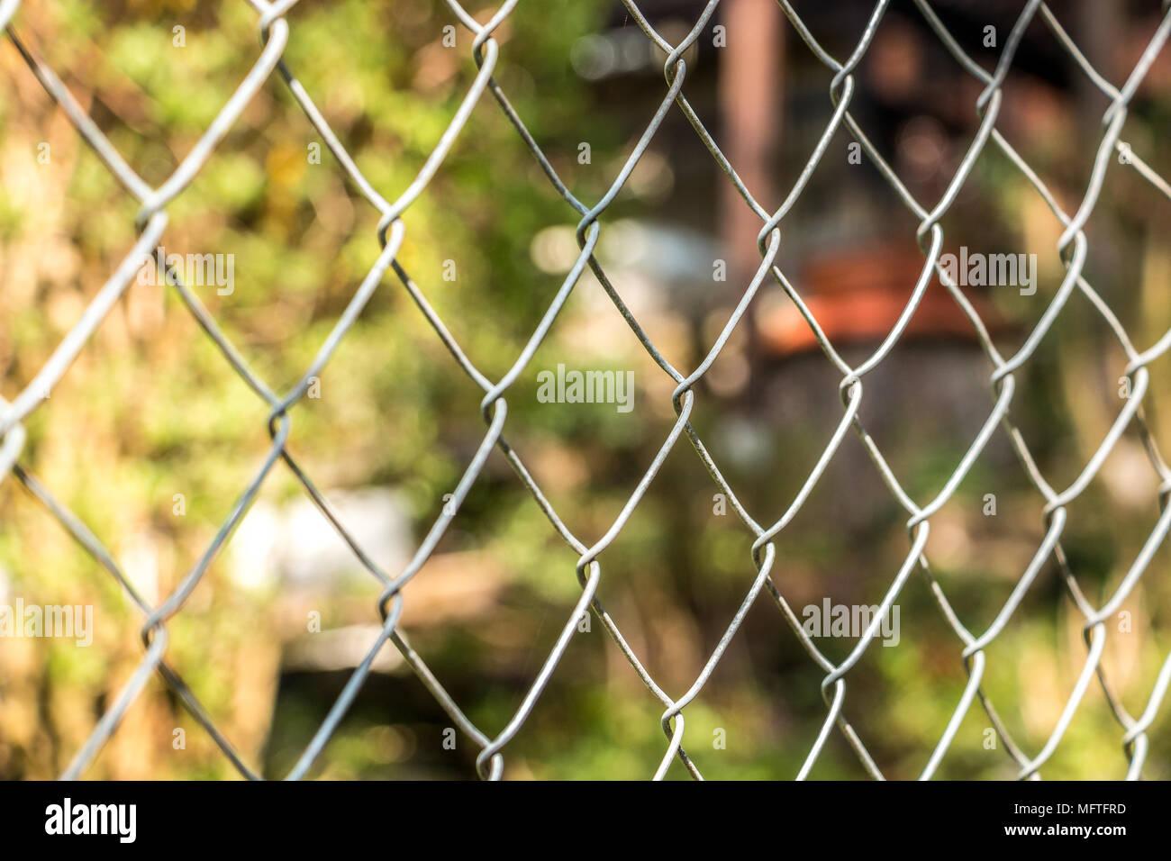 Zaun um den Garten Stockbild