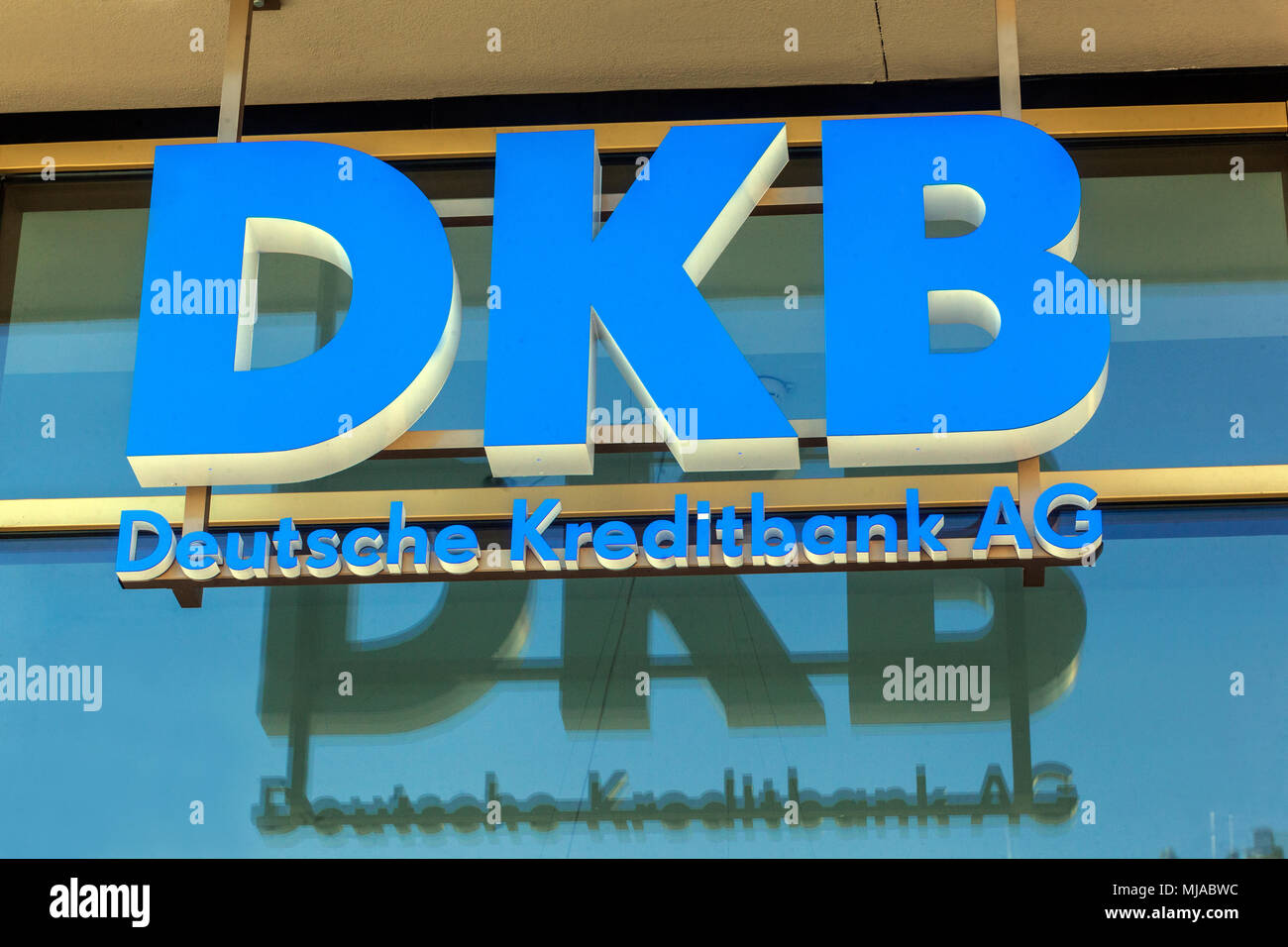 DKB-Logo, Deutsche Kreditbank, Deutschland, Europa Stockbild