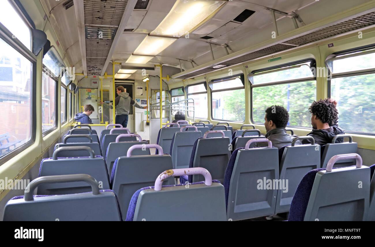 Laden Sie dieses Alamy Stockfoto Northern Rail Pacer alten Waggon, Birkenholz, Warrington, Cheshire, England, Großbritannien - MNFT9T