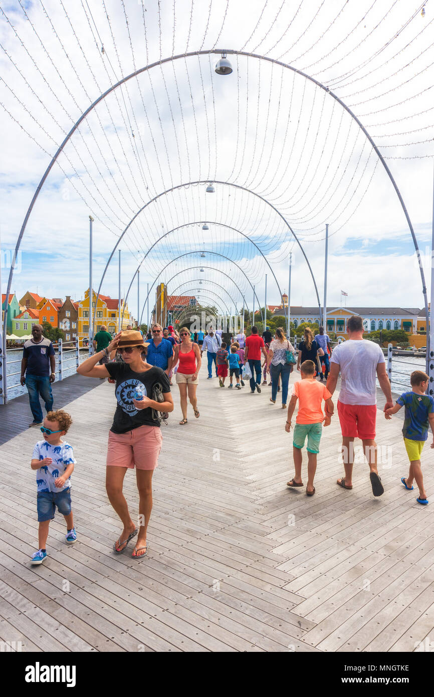 Willemstad, Curacao, 26. Dez 2016 - Emma Brücke in Willemstad Stockbild