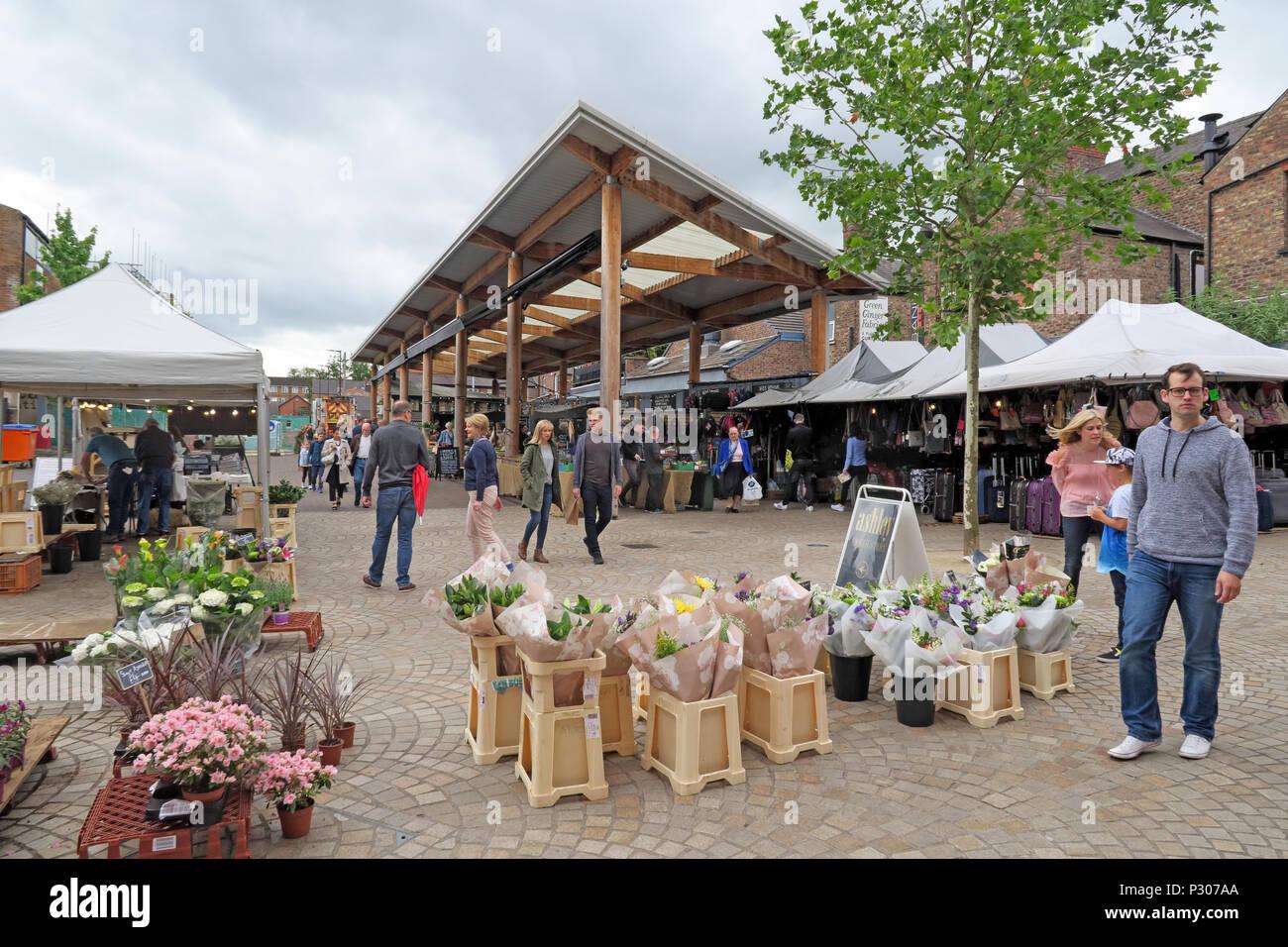 Laden Sie dieses Alamy Stockfoto Altrincham erfolgreichen Retail Town Market (ähnlich Borough Market), Trafford Rat, Greater Manchester, North West England, Großbritannien - P307AA