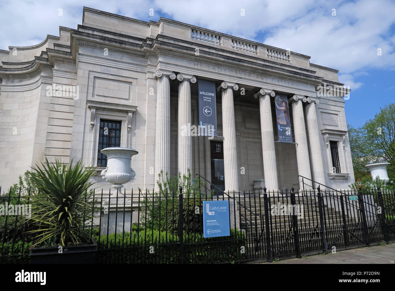 Laden Sie dieses Alamy Stockfoto Lady Hebel Art Gallery, Port Sunlight Village, untere Rd, Bebington, Wirral, North West England, UK, CH62 5EQ - P72D9N