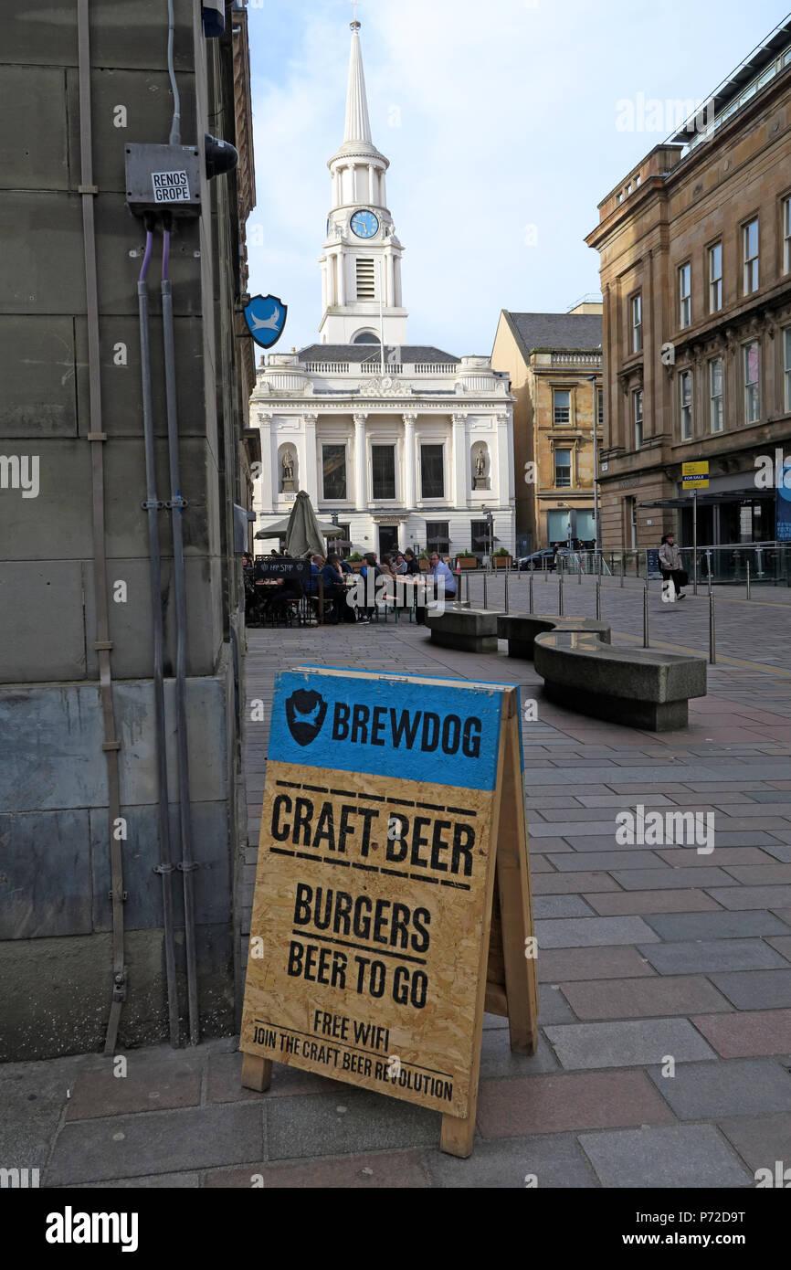 Dieses Stockfoto: Brewdog Pub Bar, Glasgow, 1397 Argyle St, Merchant City, Glasgow, Schottland, Großbritannien, G3 8 EIN - P72D9T
