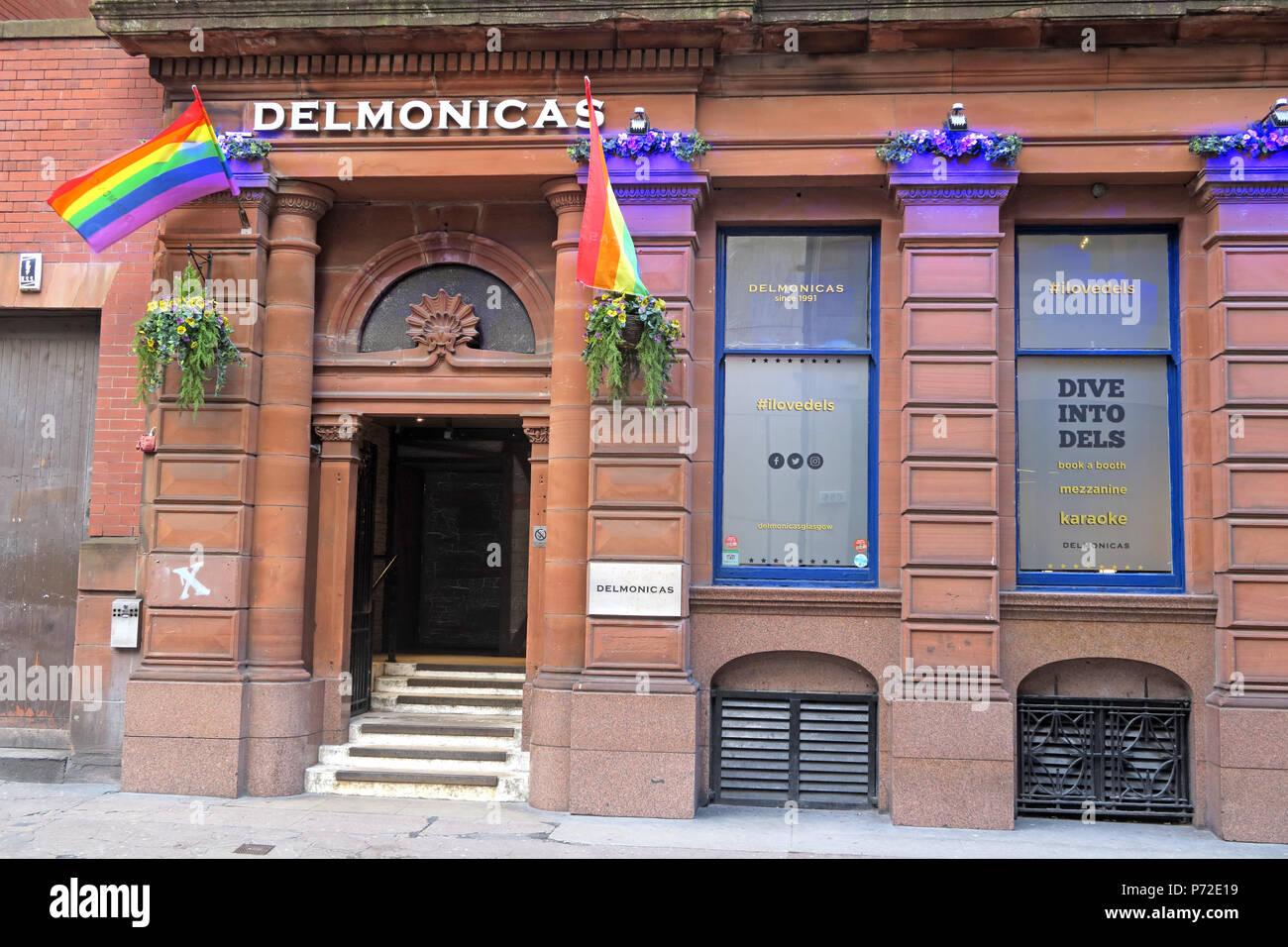 Laden Sie dieses Alamy Stockfoto Delmonicas Gay Bar, Virginia Street, Glasgow, Schottland, Großbritannien, G1 1TX, - P72E19