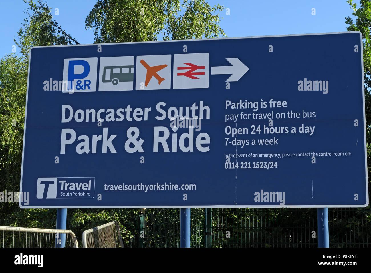 Laden Sie dieses Alamy Stockfoto Doncaster South kostenlose Park-and-Ride, Schafe Brücke Ln, Rossington, Doncaster DN 11 0 GT - P8KEYE