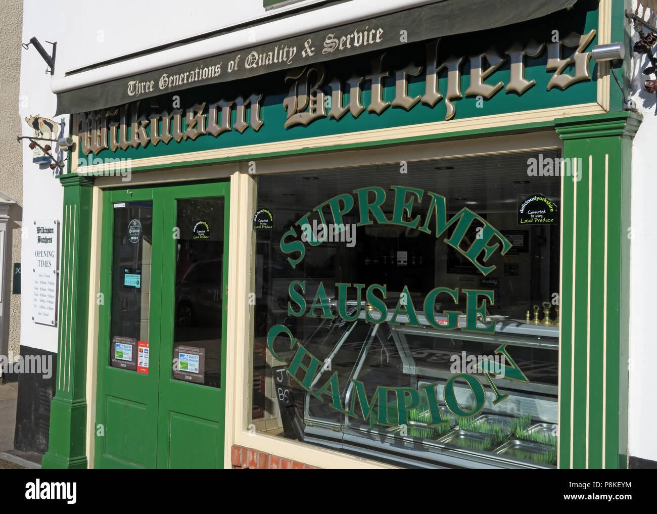 Dieses Stockfoto: Wilkinson Metzger, Bawtry Supreme Wurst Champion, Doncaster, South Yorkshire, England, Großbritannien - P8KEYM