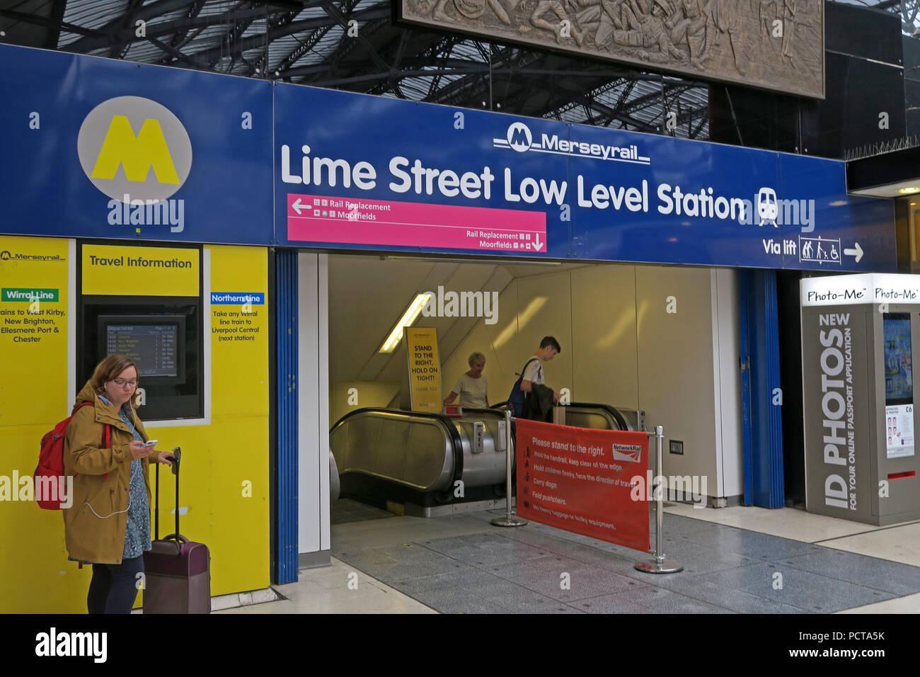 Laden Sie dieses Alamy Stockfoto Lime Street Low Level Bahnhof Eingang, Liverpool Lime Street, Merseyside, North West England, Großbritannien - PCTA5K