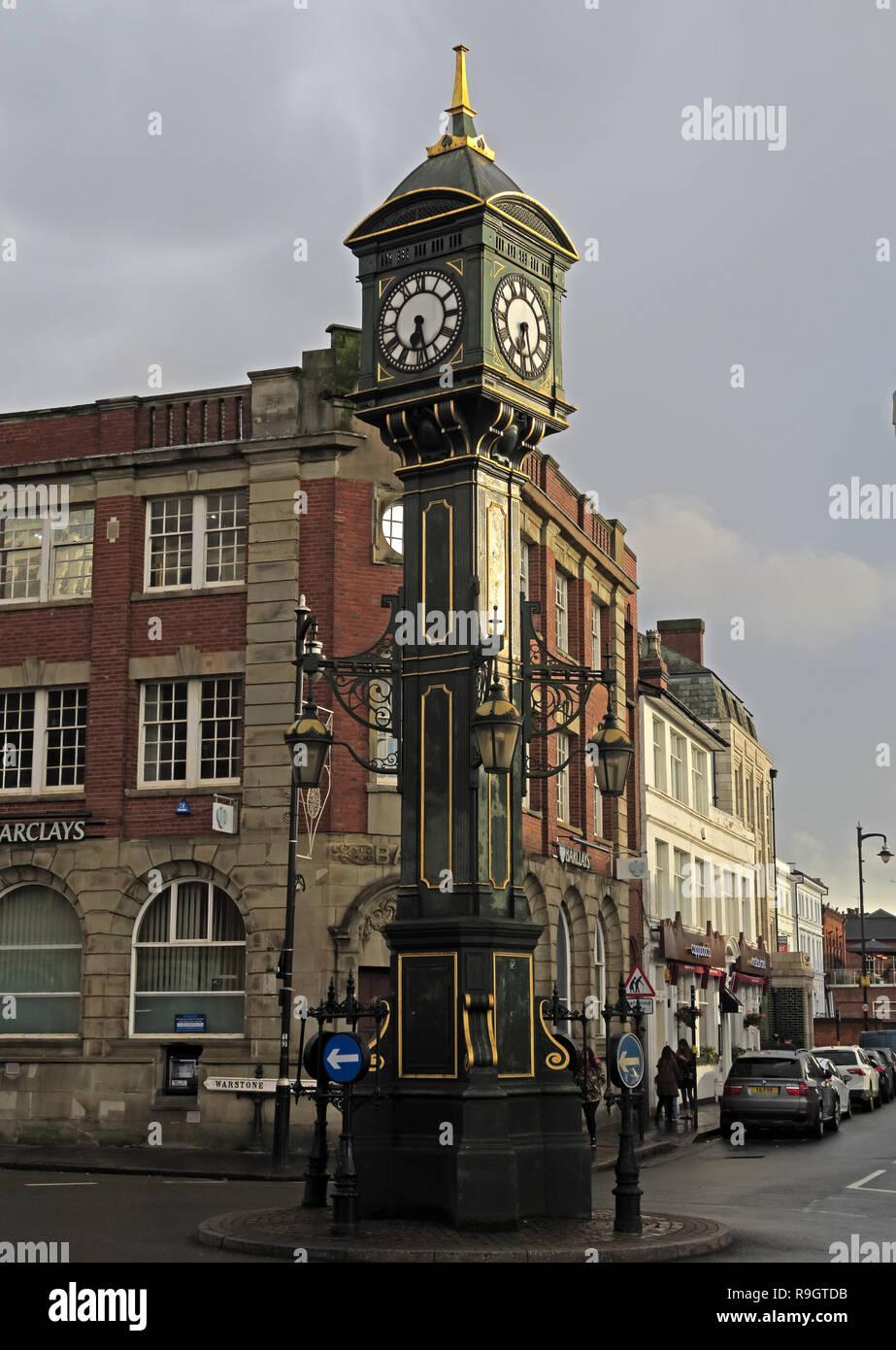 Dieses Stockfoto: Chamberlain, Edwardian, Guss, Clock Tower, Jewellery Quarter, Birmingham, West Midlands, England, Großbritannien, - R9GTDB