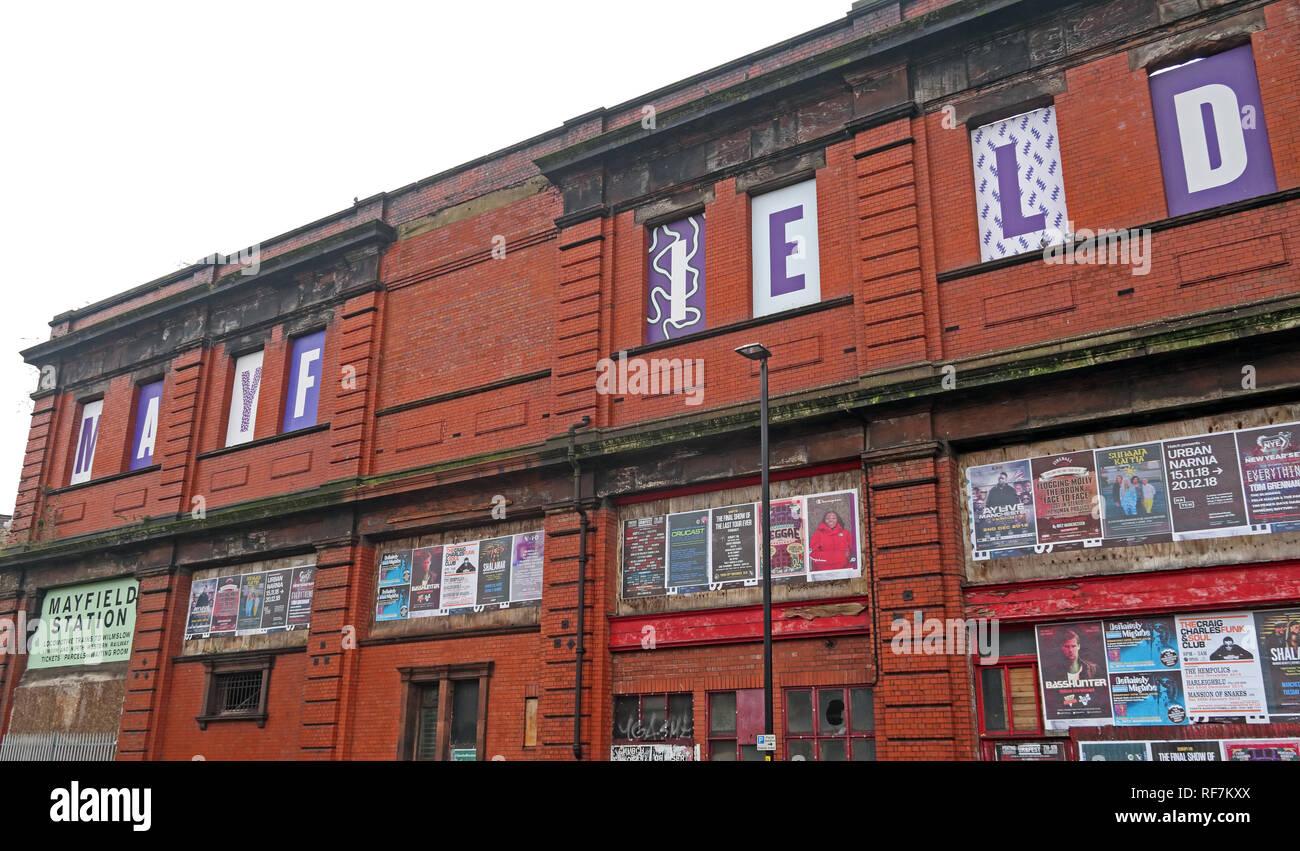 Laden Sie dieses Alamy Stockfoto Stillgelegte Manchester Mayfield Bahnhofsgebäude, Fairfield, Street, Piccadilly, Manchester, North West England, Großbritannien, M1 2QF - RF7KXX