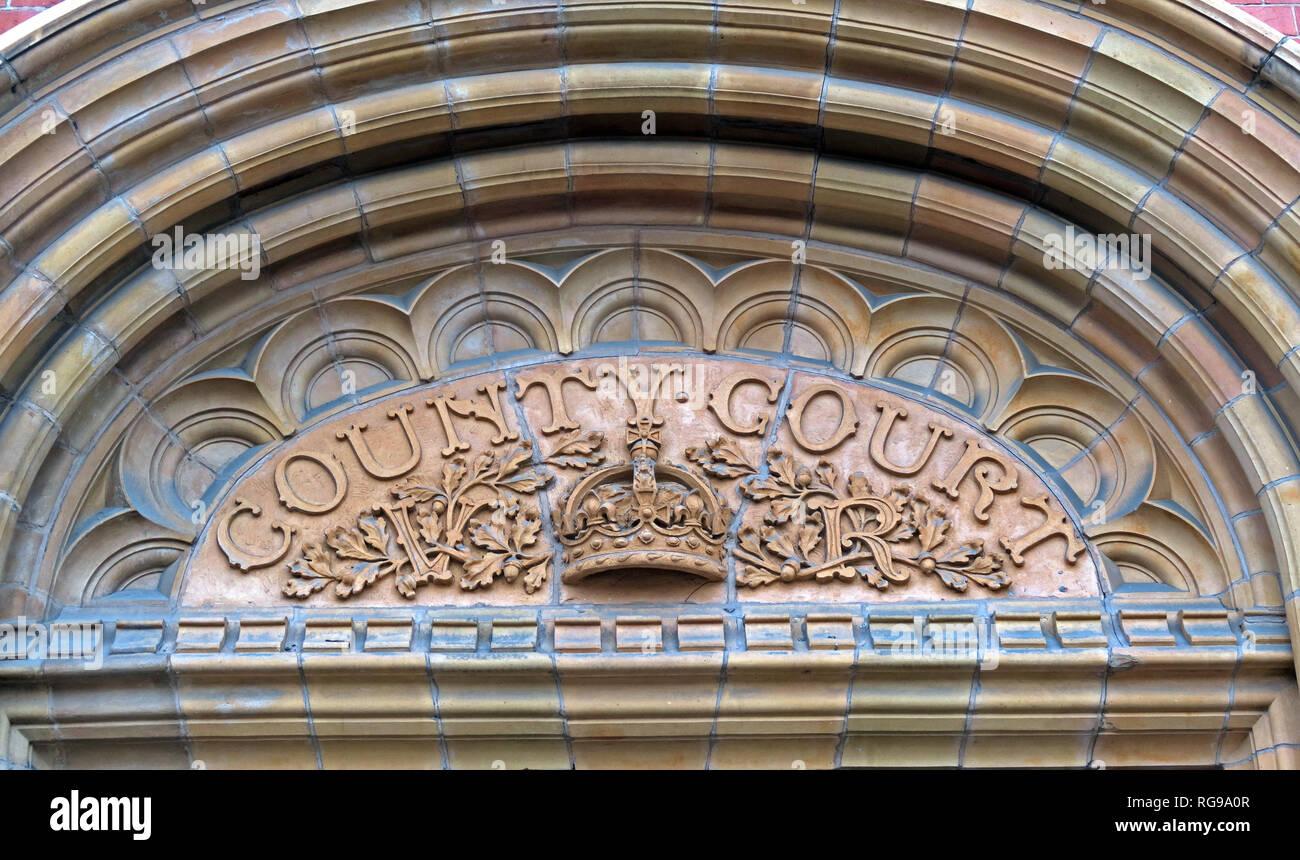 Laden Sie dieses Alamy Stockfoto Cheshire County Court, Steinarbeiten, Warrington, North West England, VEREINIGTES KÖNIGREICH, - RG9A0R