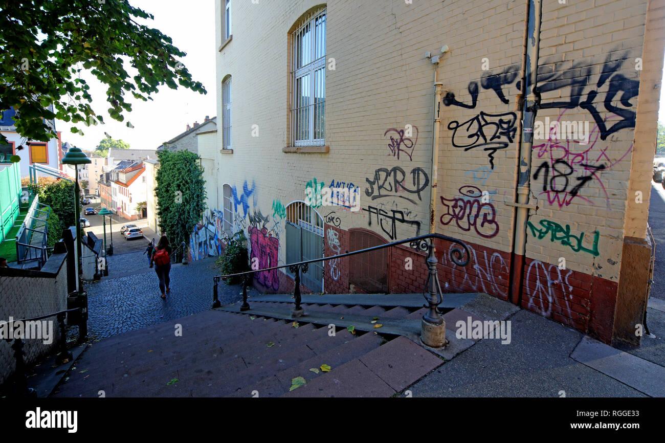 Laden Sie dieses Alamy Stockfoto Graffiti, kleine Weigasse 12, 55131 Mainz, Rheinland-Pfalz, Deutschland, Europa - RGGE33
