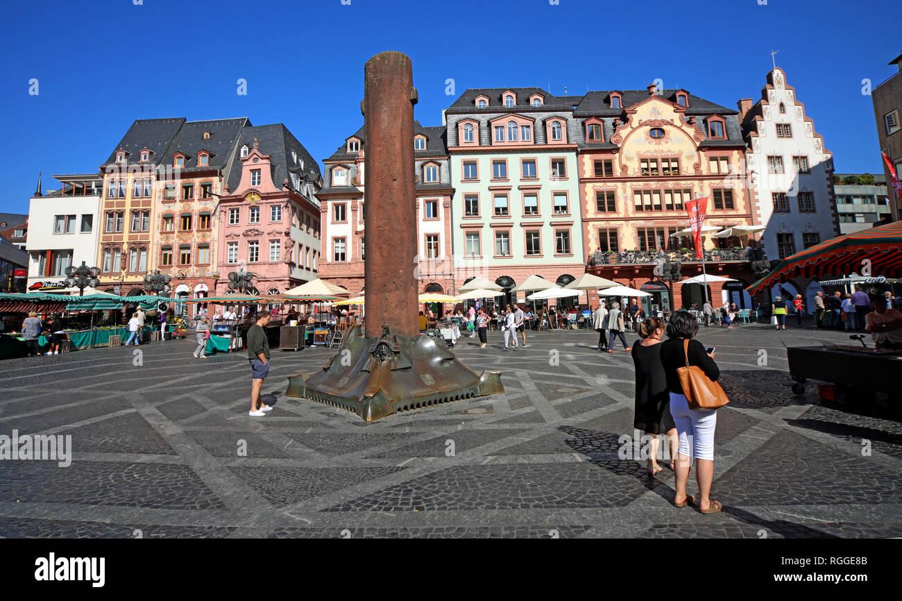 Laden Sie dieses Alamy Stockfoto Markt Platz, Marktplatz, Mainz, Rheinland-Pfalz, Deutschland, Europa - RGGE8B