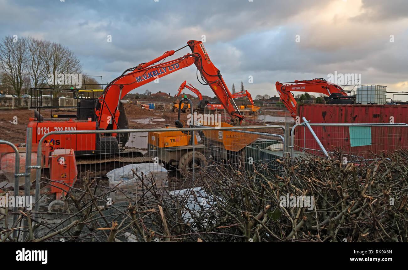 Laden Sie dieses Alamy Stockfoto Bloor Wohnungen, 71 Neubau-Immobilien, Hawnthorn Grove, auf Stretton Road, Appleton Thorn, Warrington, Cheshire, England, UK, WA4 4QX - RK9X6N