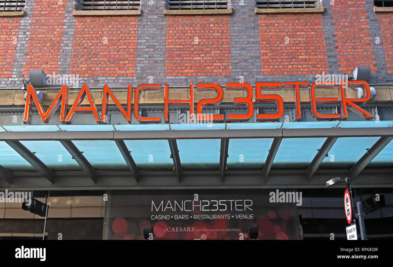 Laden Sie dieses Alamy Stockfoto Manchester 235 Manch 235 ter Casino, Great Northern Lager, Deansgate, Manchester, England, Großbritannien - 2 Watson Street, Manchester M3 4LP - RPGEDR