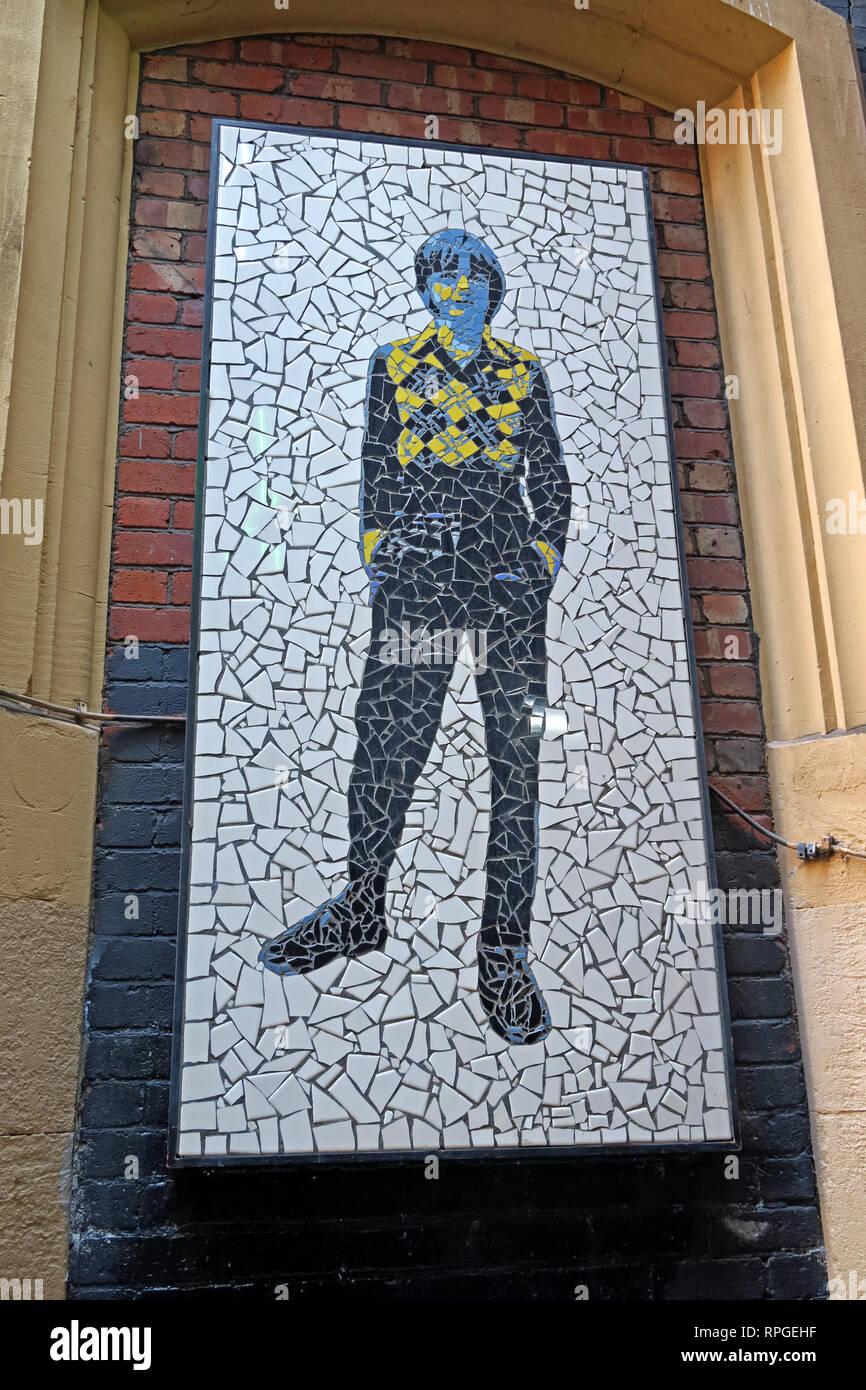 Laden Sie dieses Alamy Stockfoto Mosaik auf Afflecks Palace Tib St Manchester, Mark E Smith und den Herbst, zehn Häuser von Eve, England, Großbritannien, M4 1PW - RPGEHF