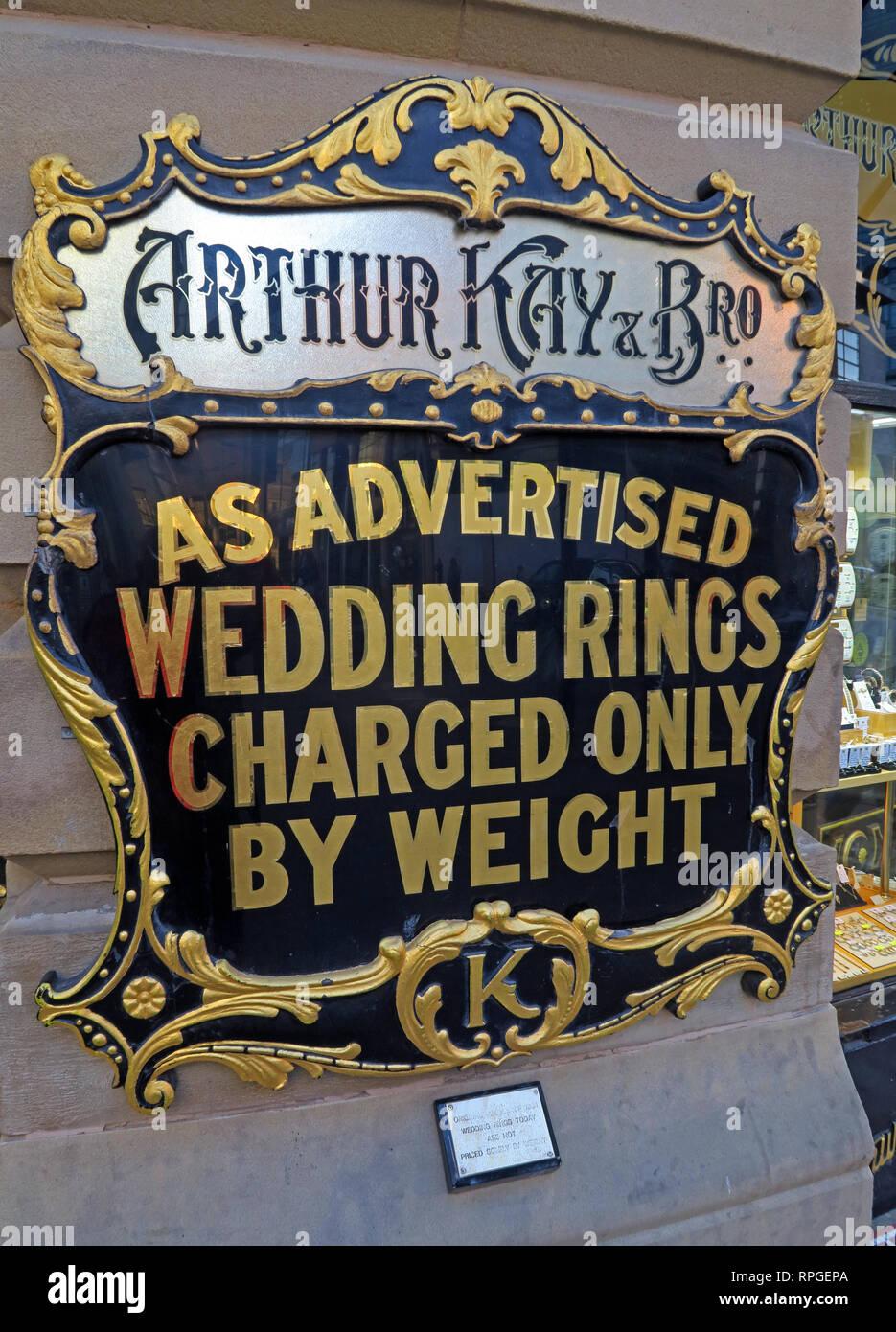 Laden Sie dieses Alamy Stockfoto Arthur Kay & Bros, Juweliere Shop, 2 New Market, Manchester, North West England, UK, M 1 1 PT - RPGEPA