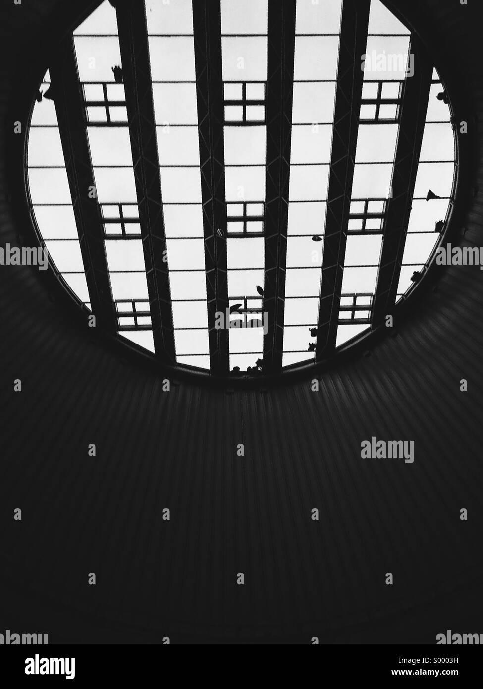 Blickte zu massiven Oberlicht, Star City, Birmingham Stockbild
