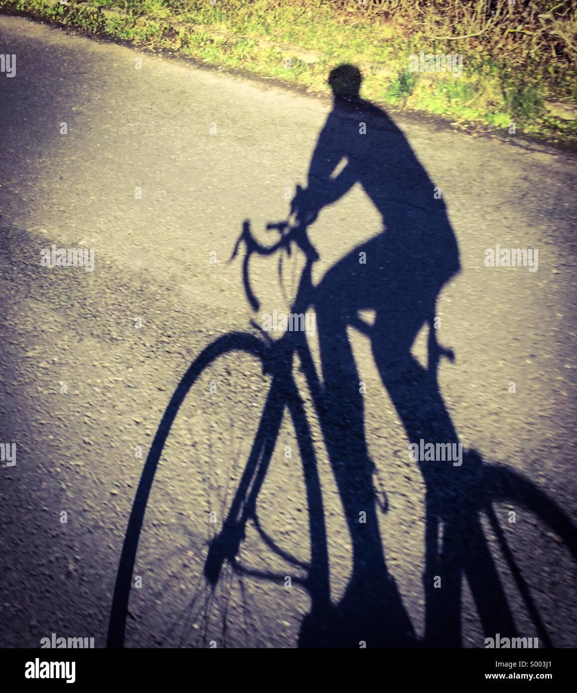 Road Bike Schatten Stockbild