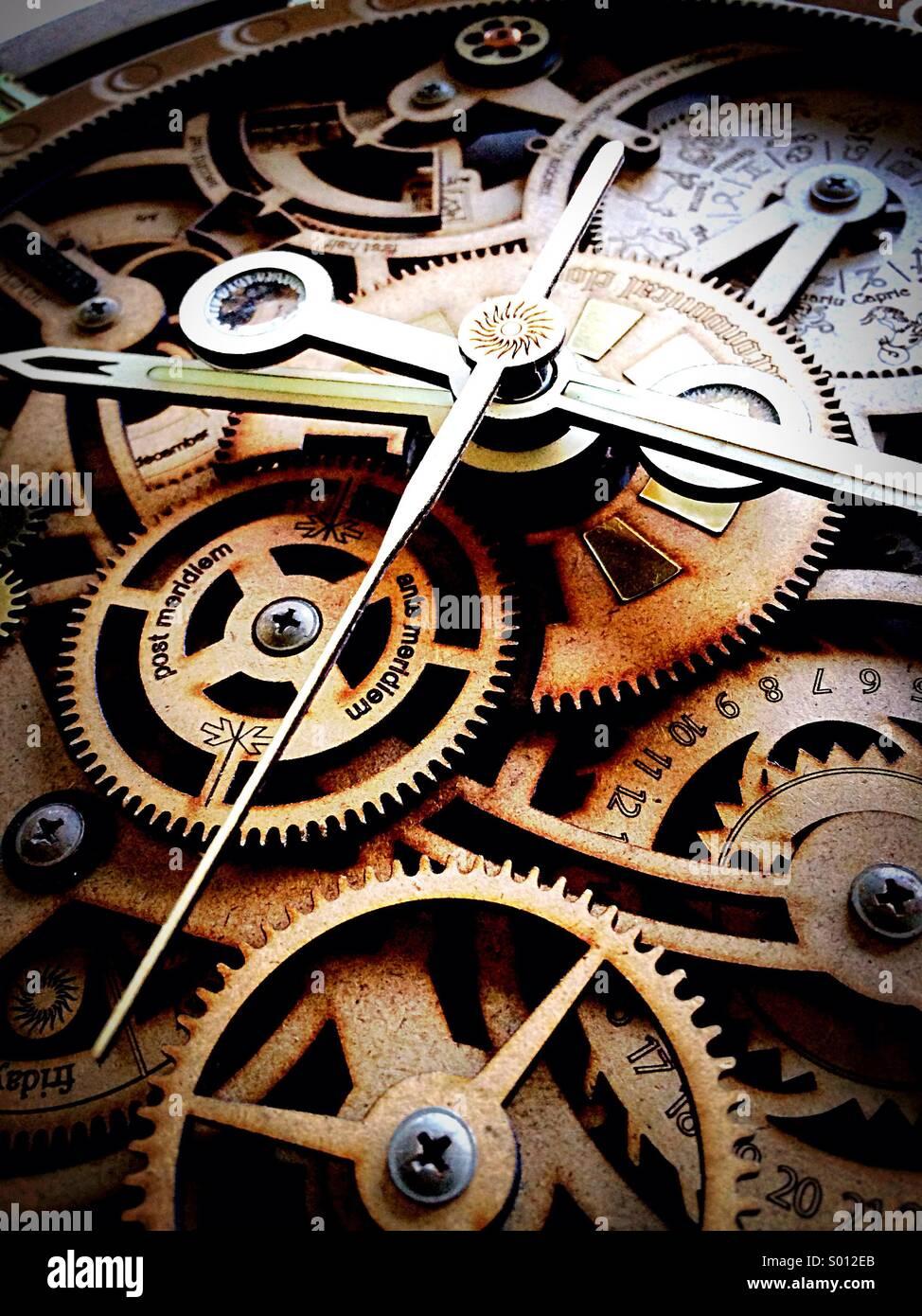 Uhr Uhrzeit Stück Stockbild