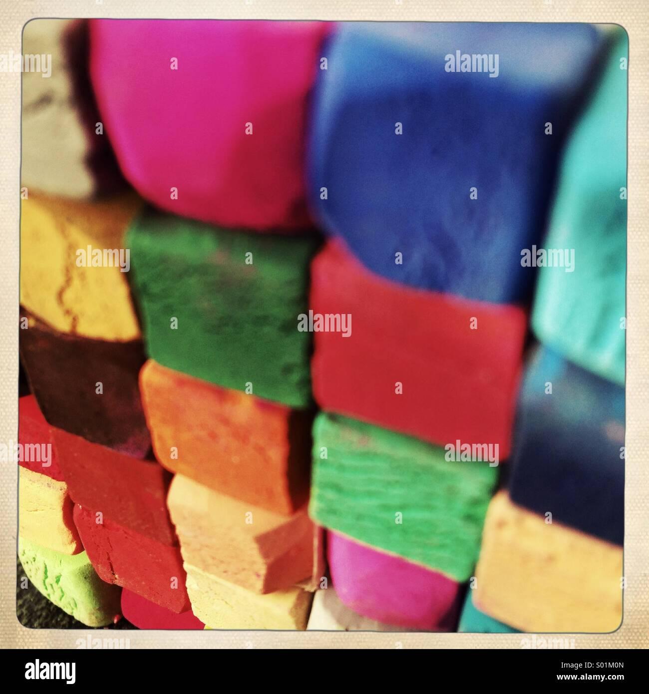 Farbe Pastell Stockbild