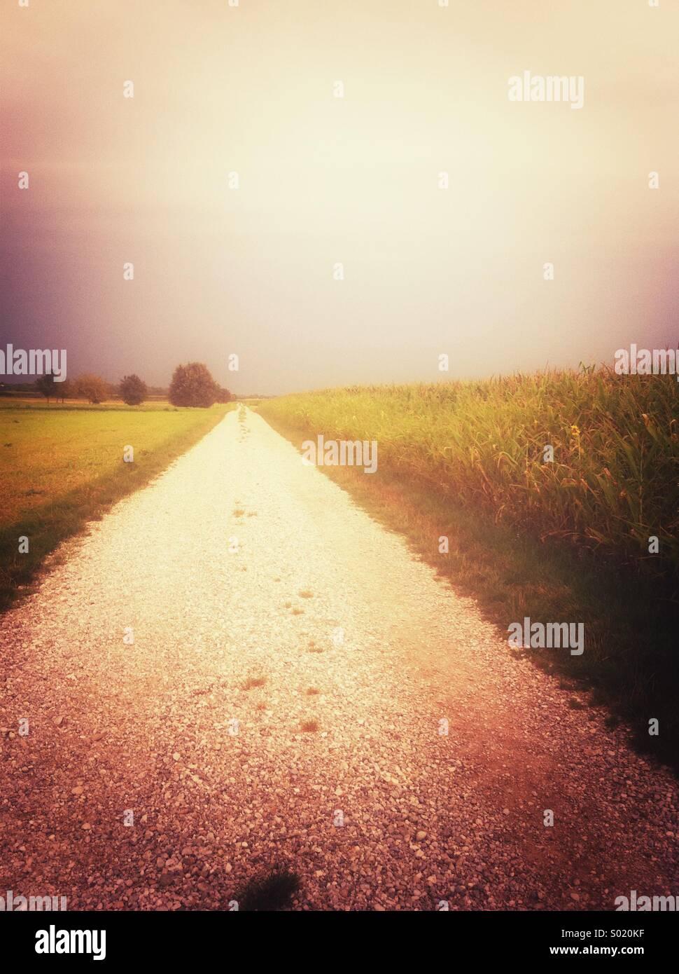 Langer Weg Stockbild
