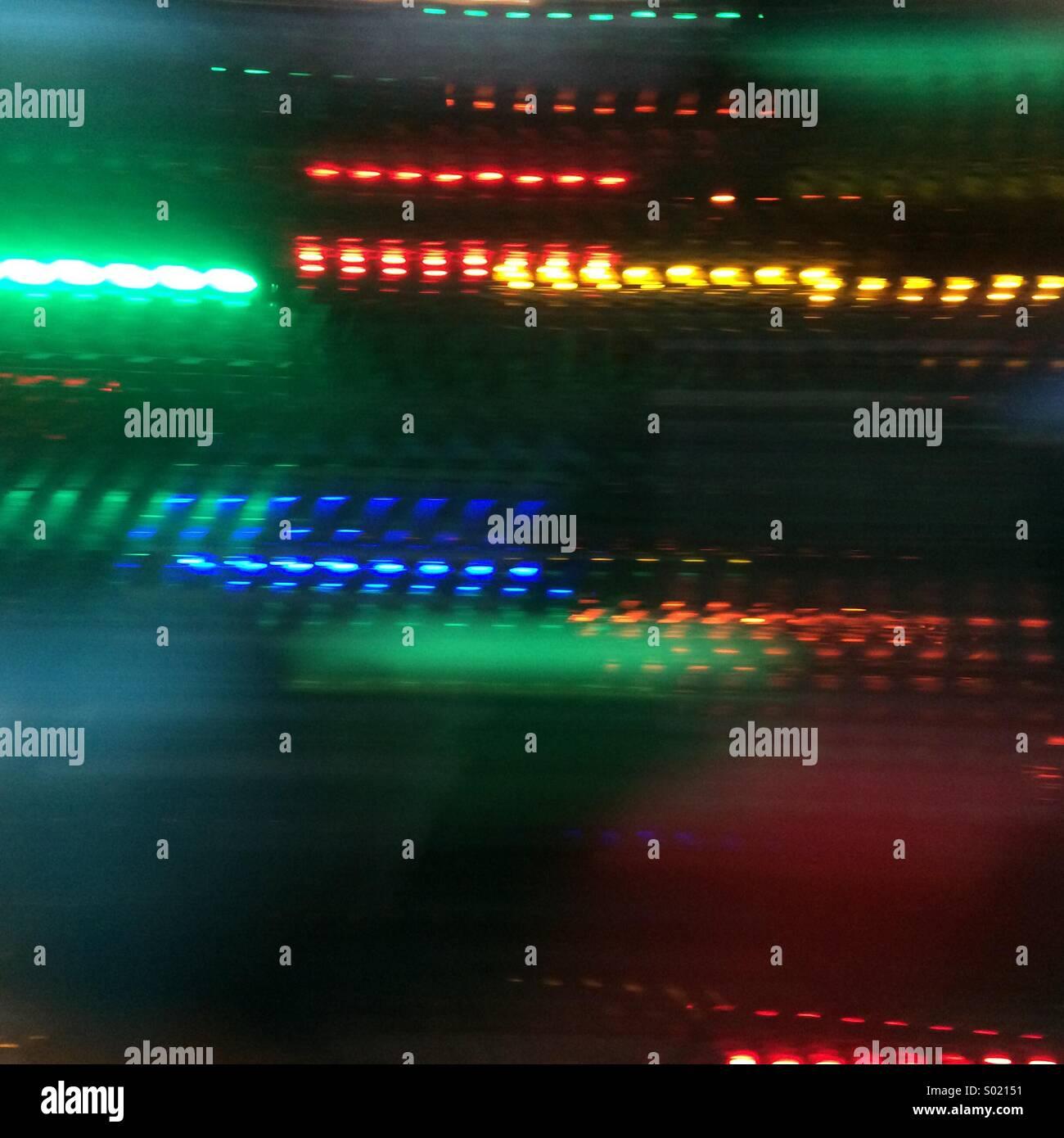 Leuchtspuren Stockfoto