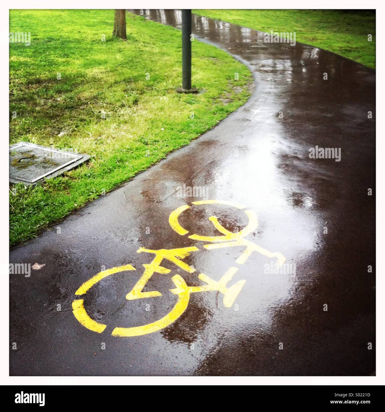 Fahrrad Weg Stockbild