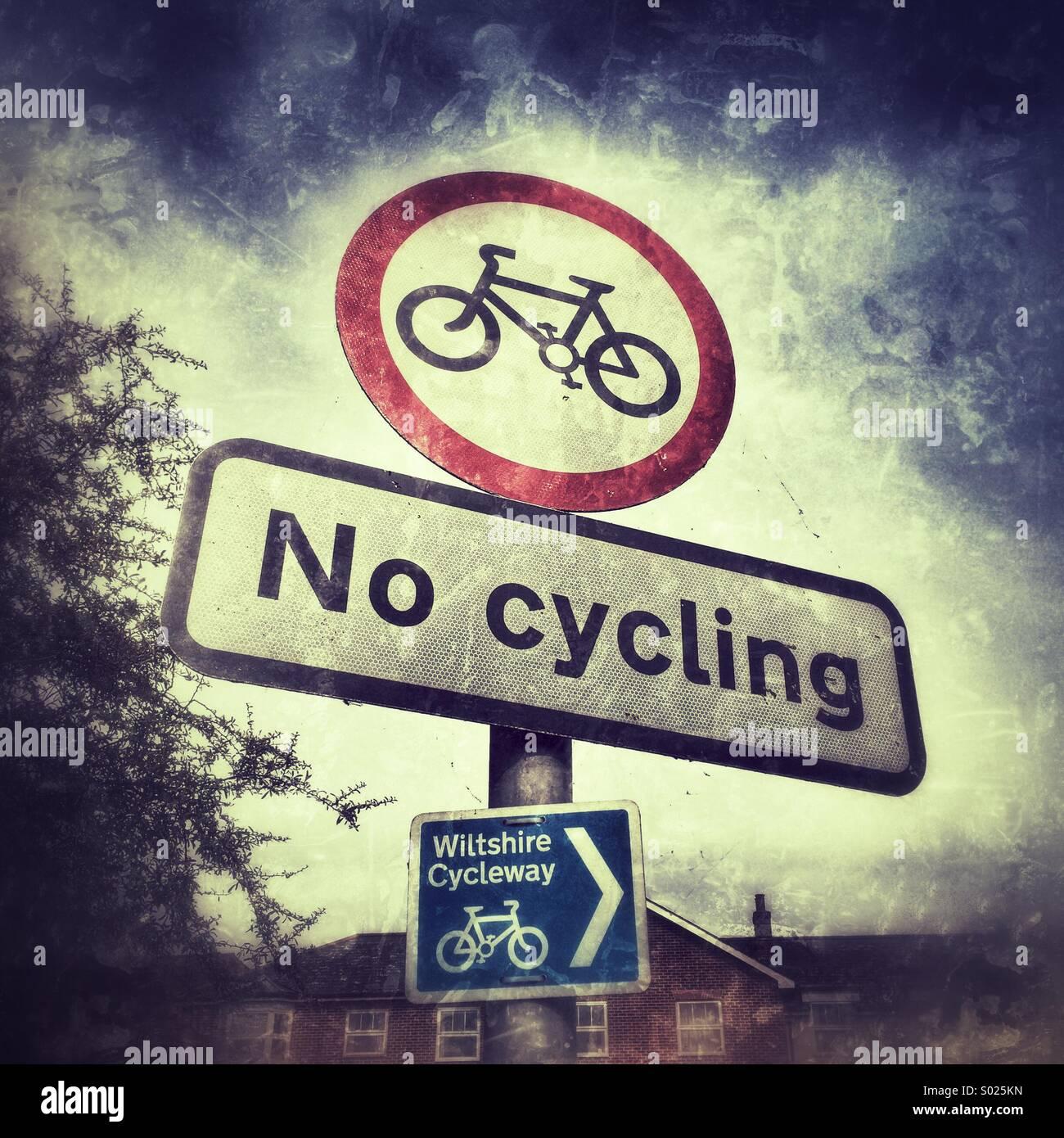 Kein Fahrrad Zeichen Stockbild