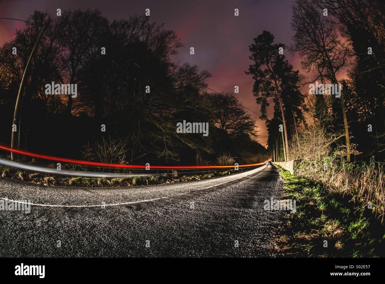Der lange Weg Stockbild