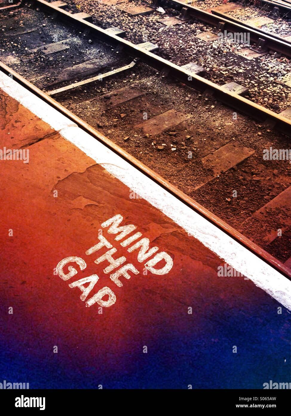Ein Geist der Lücke Unterricht an einer Eisenbahn Stockbild