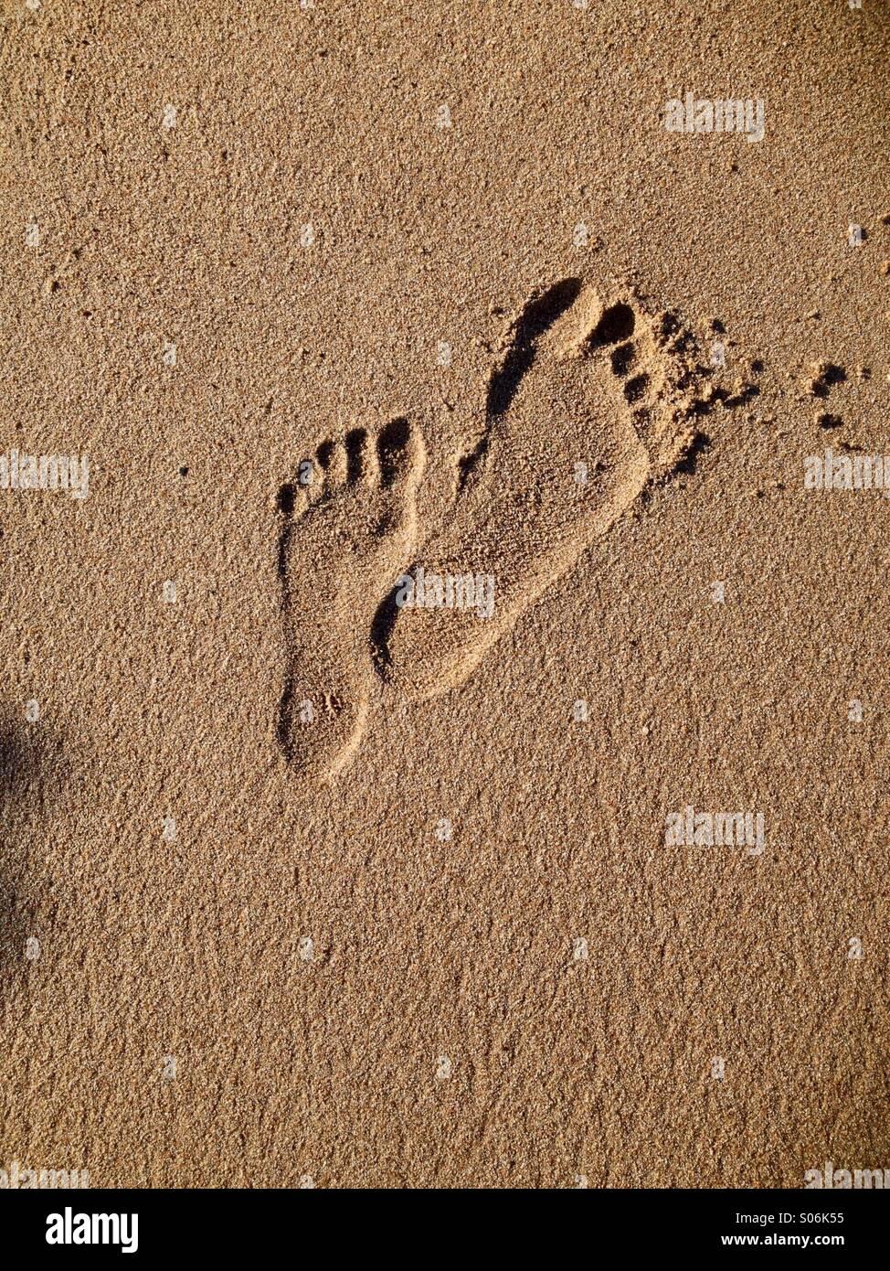 Fußabdrücke Stockbild