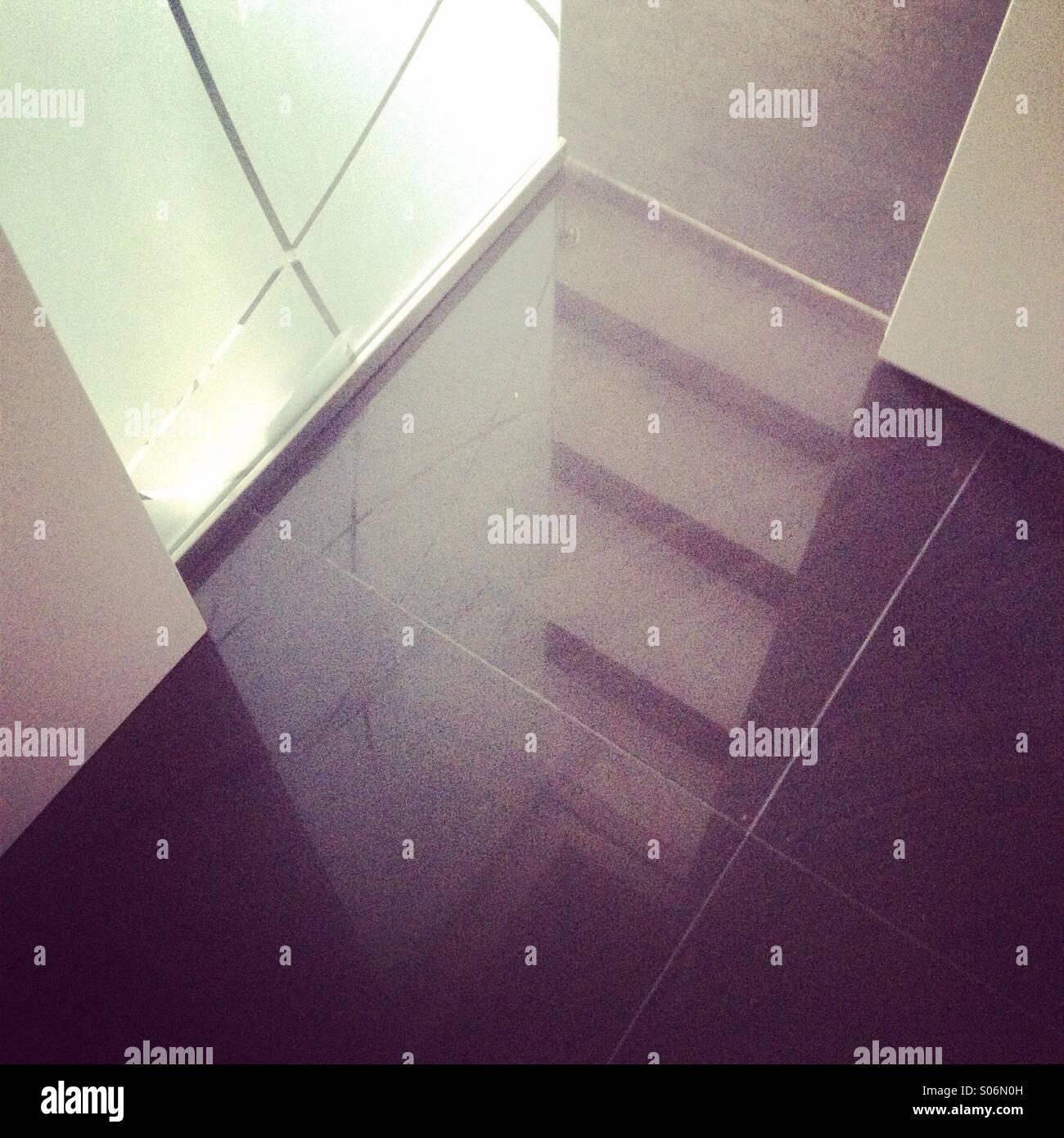 Reflexion, Licht, Schatten Stockbild