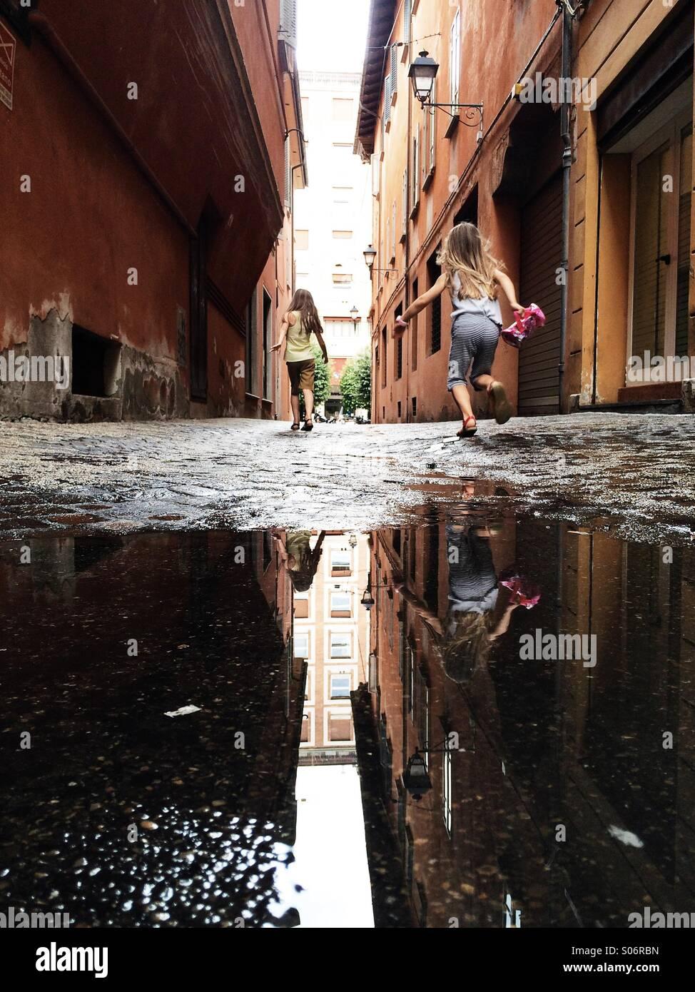 Reflexion-Läufer Stockbild