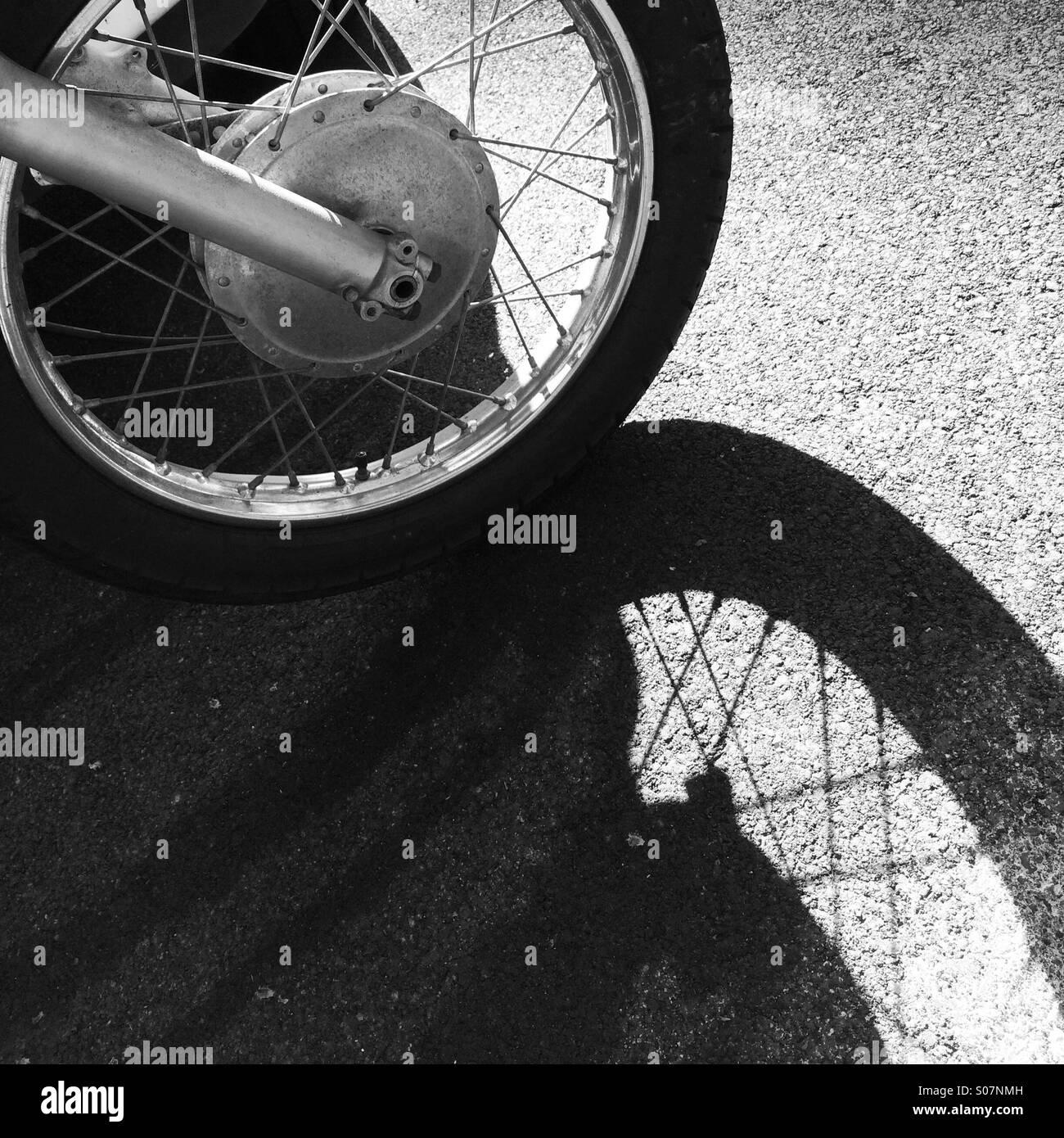 Rad & Schatten Stockbild