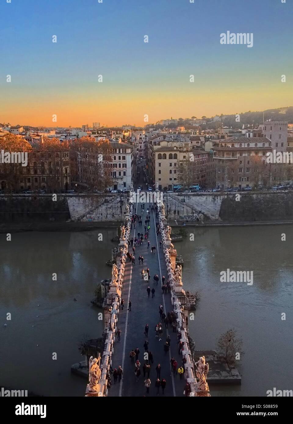 Pont Sant ' Angelo, Rom Stockbild