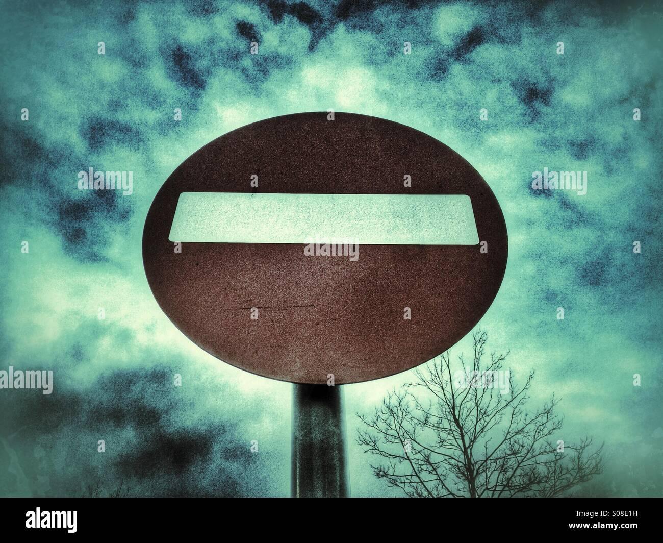 Kein Eintrag-Verkehrszeichen Stockbild