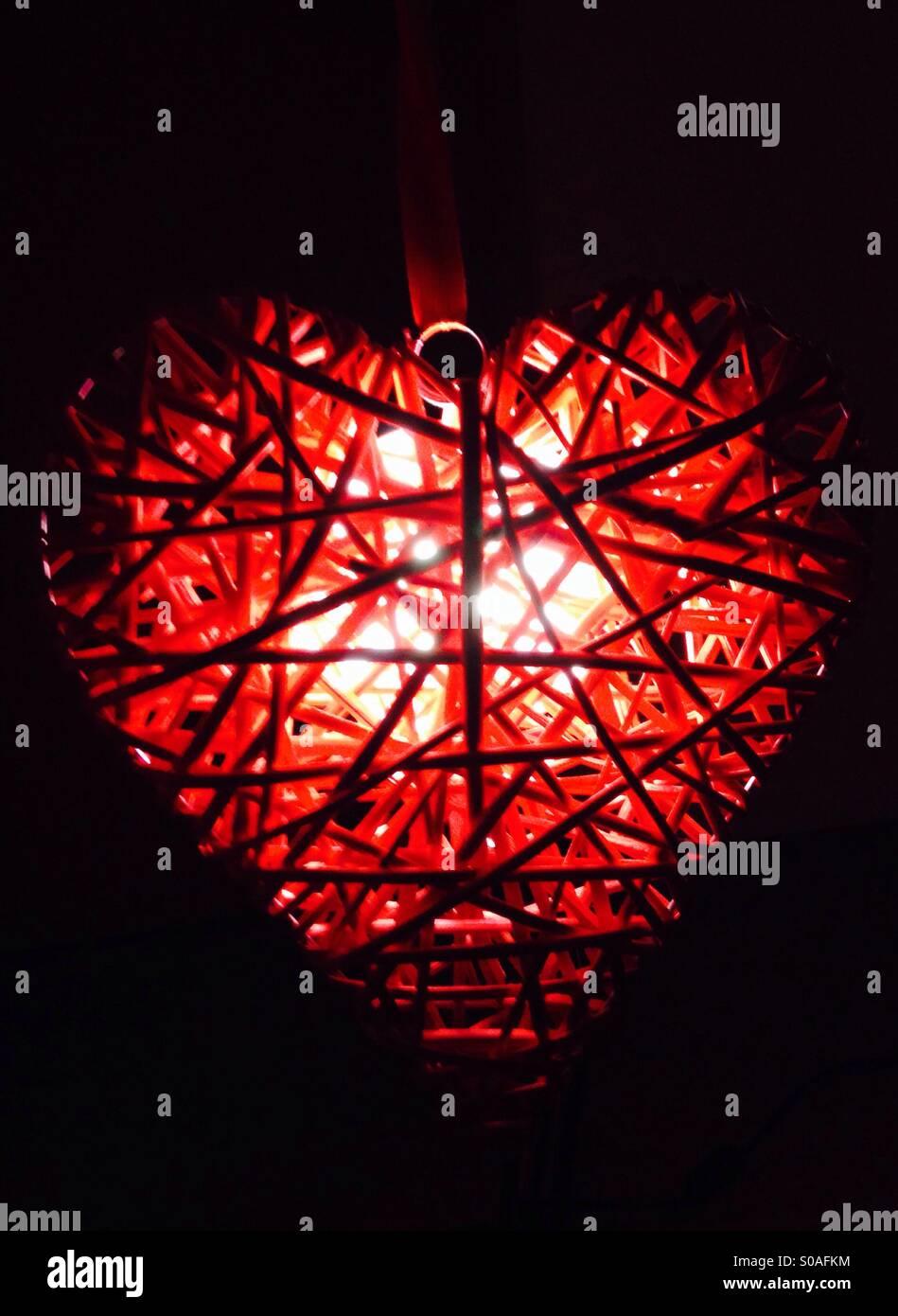 Licht in Herzform Stockbild