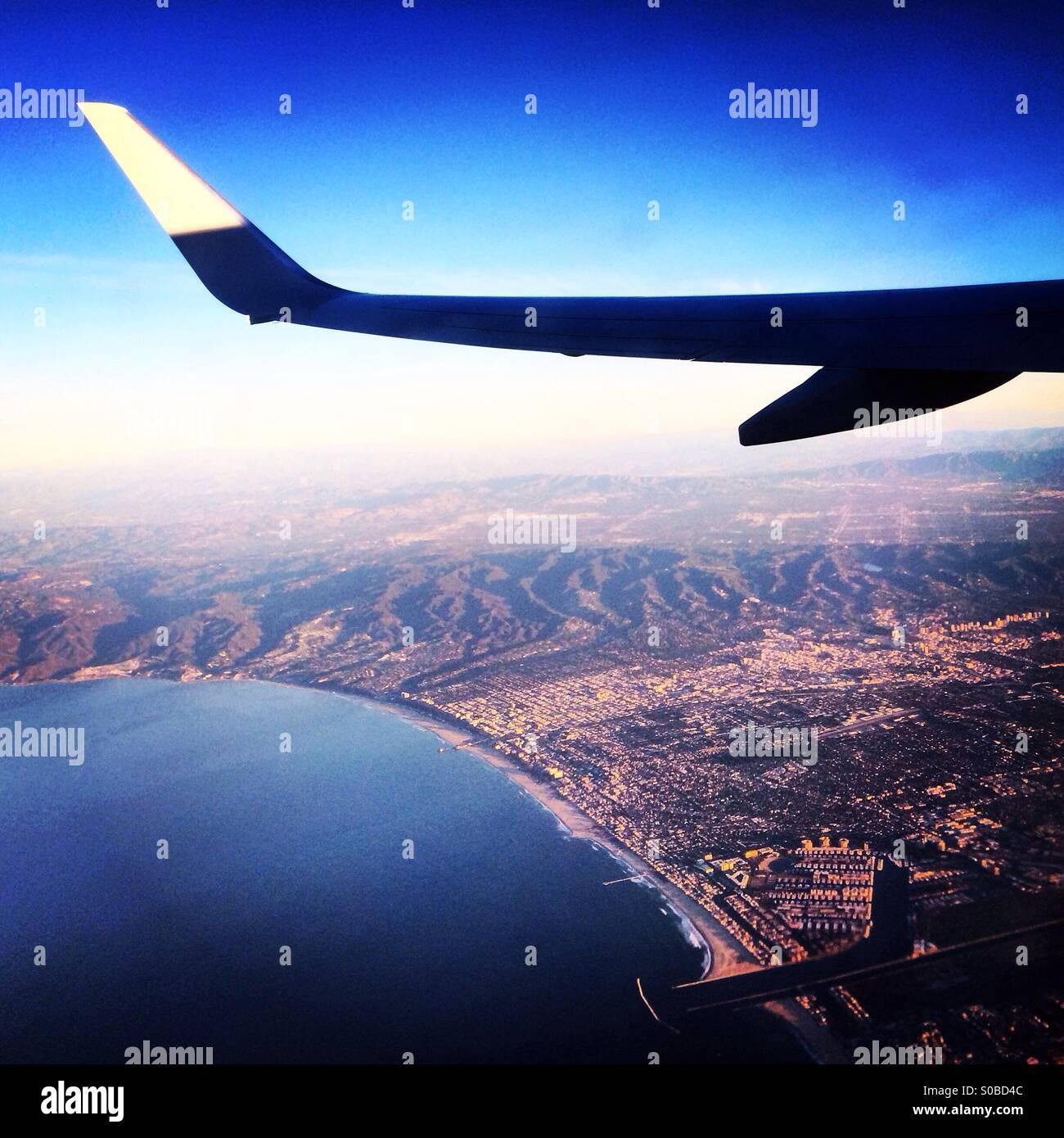 Küste von Kalifornien zu reisen Stockbild