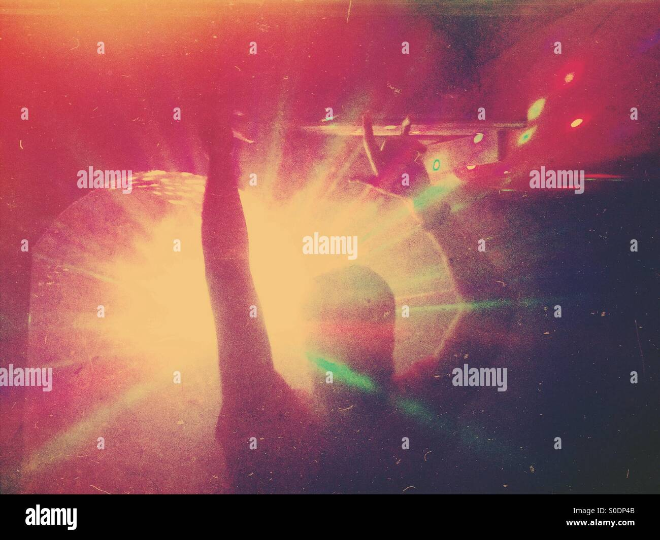 Im Club Stockbild