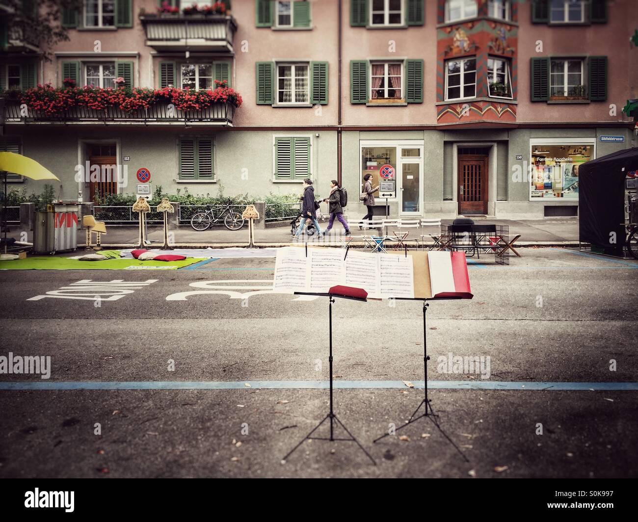 Straße-Konzert Stockbild