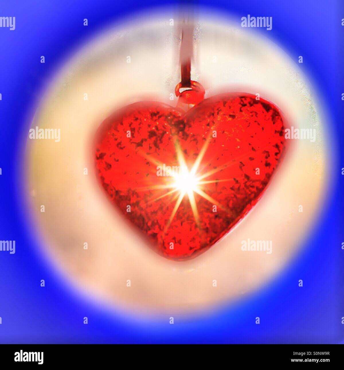 Licht in meinem Herzen Stockbild