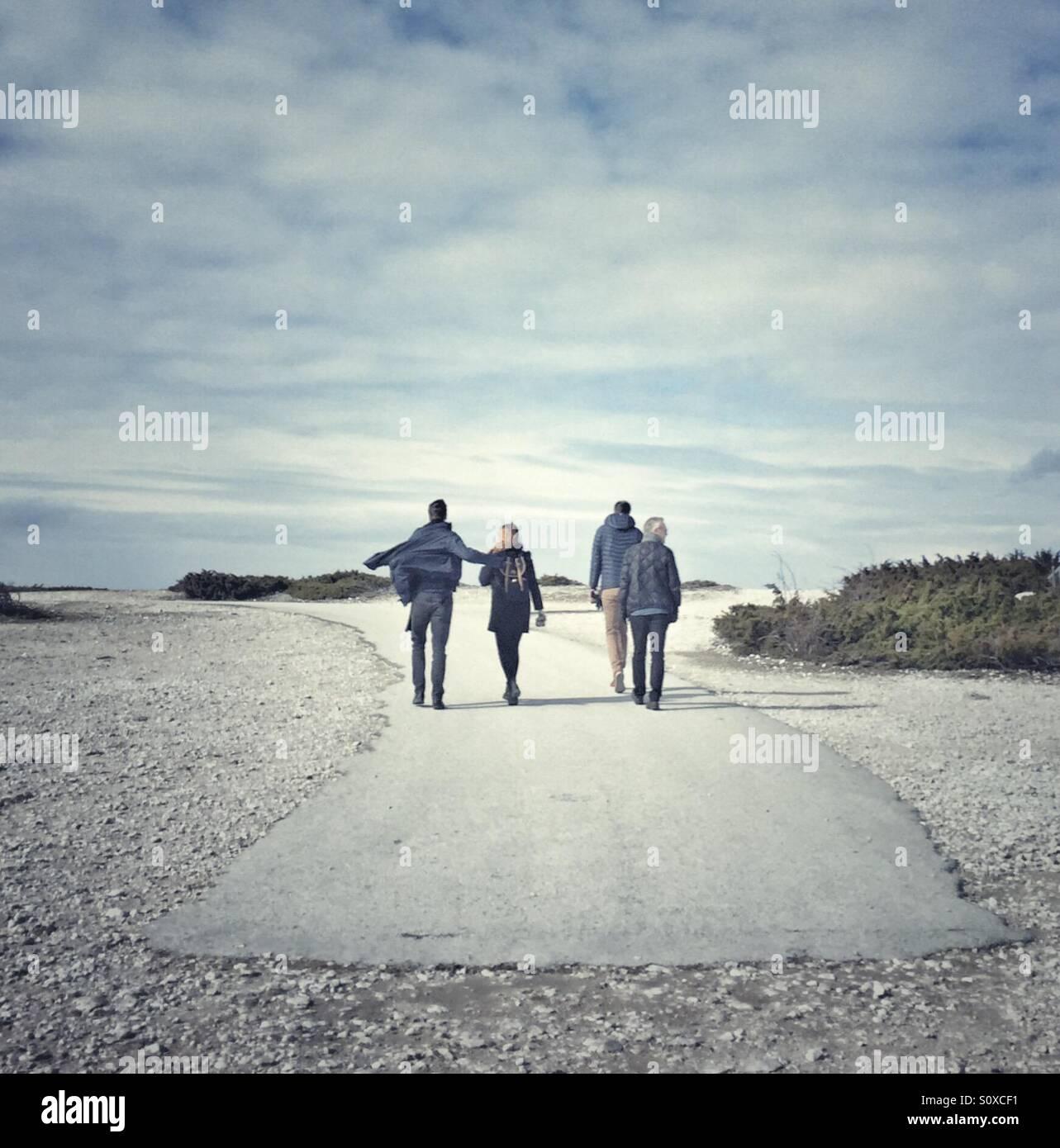 Menschen auf Fårö-Gotland Schweden Stockbild