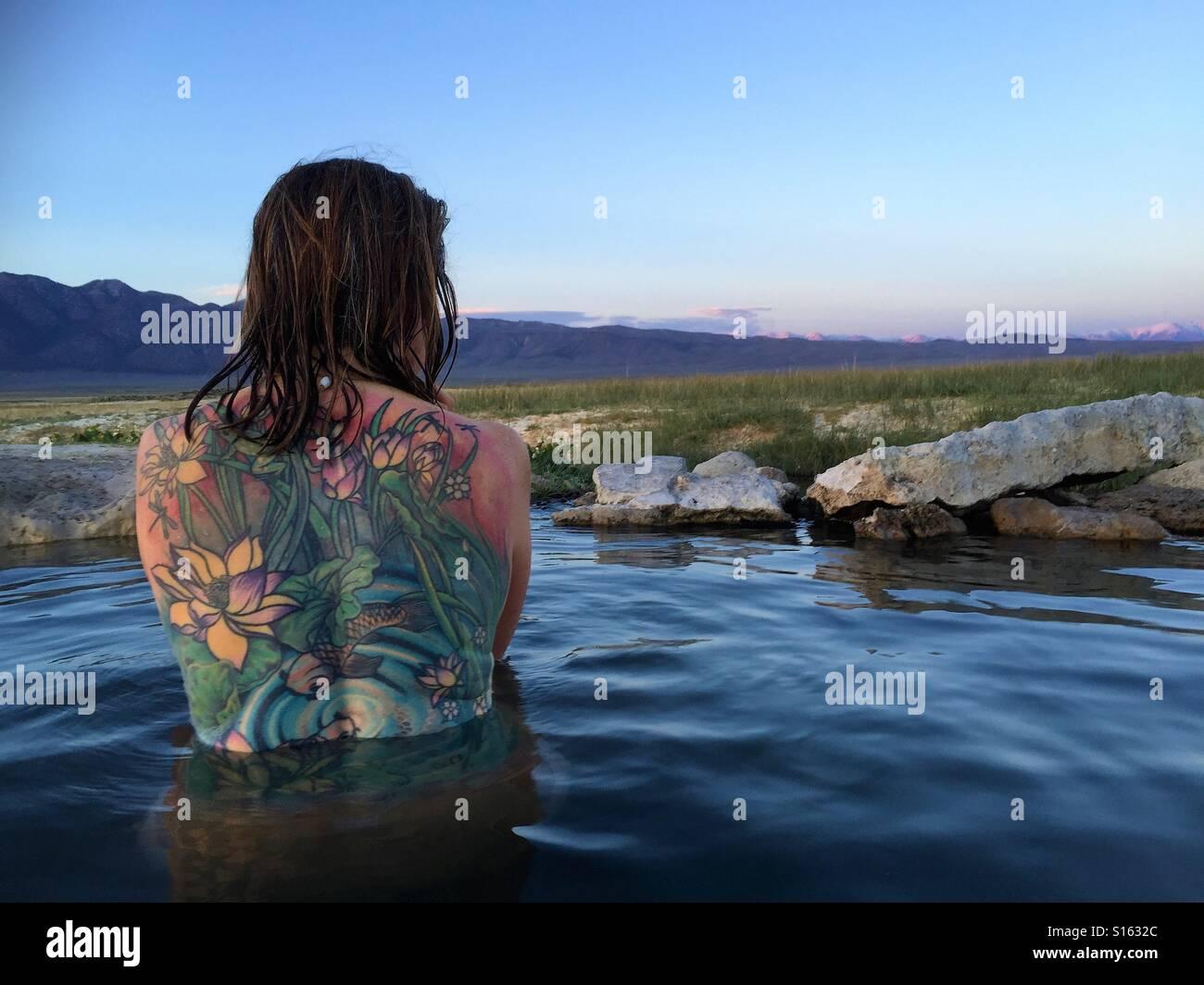 Tattoo heißer Frühling Stockbild