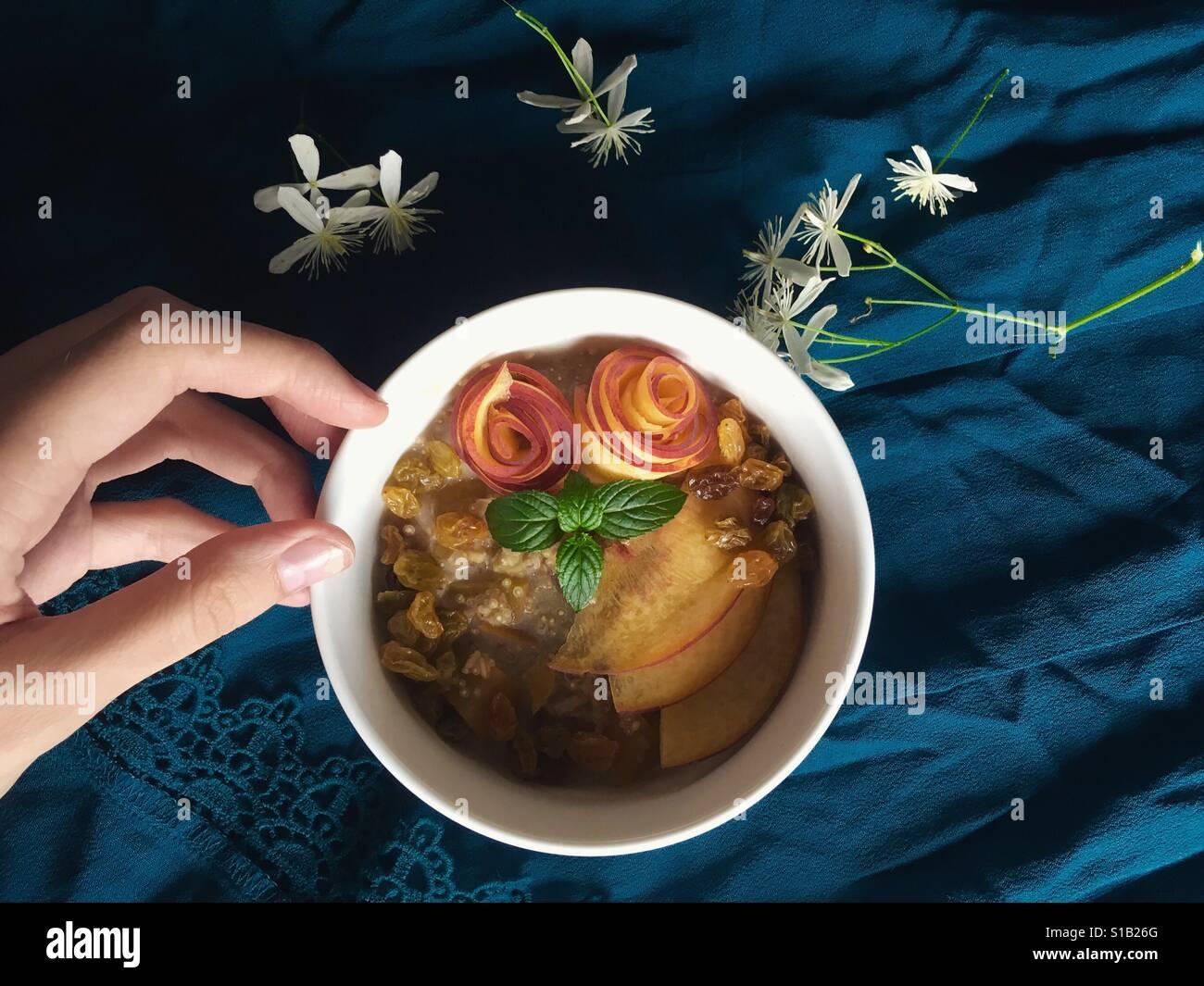 Veganes Frühstück Schüssel Stockfoto