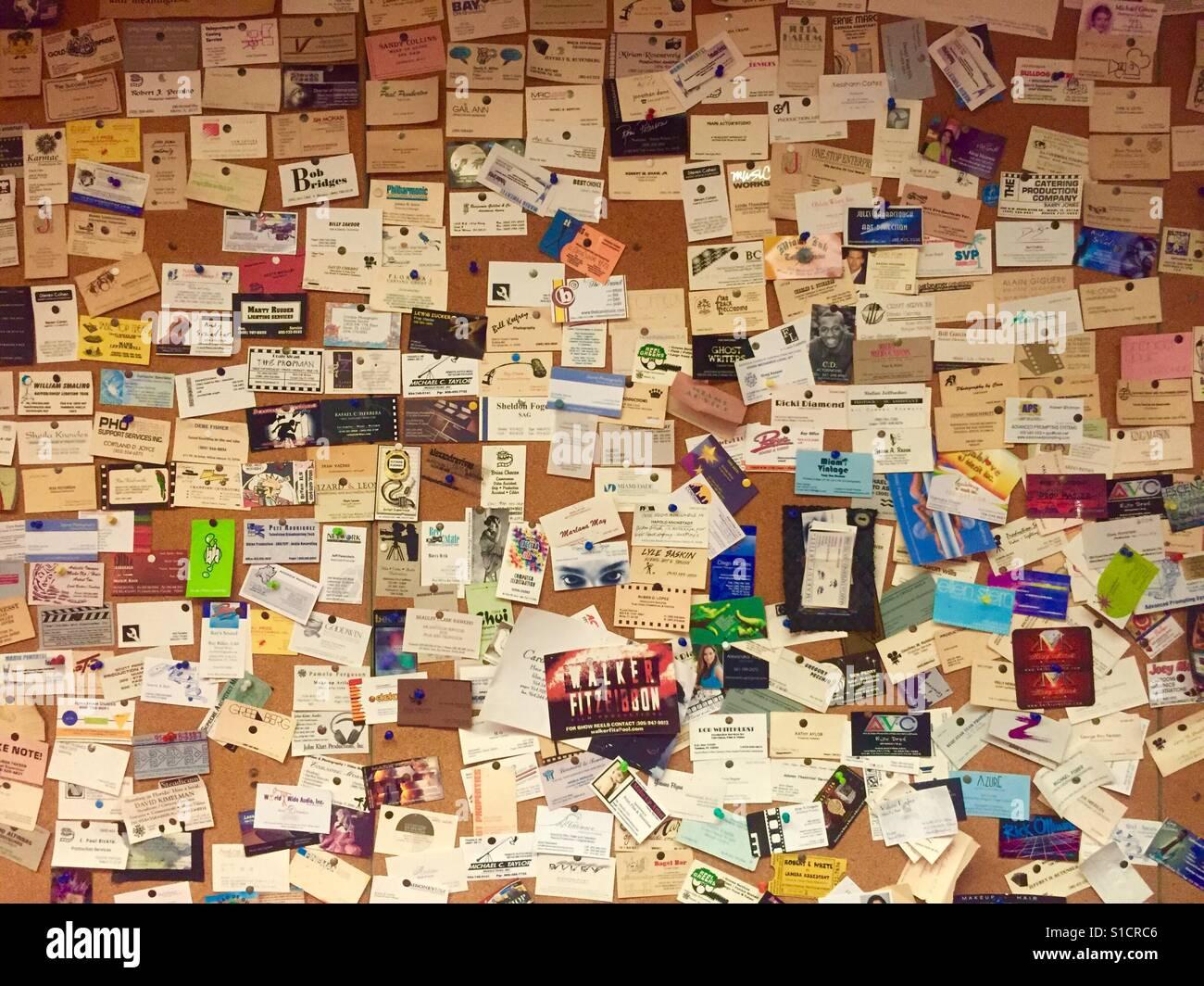 Fülle von Visitenkarten Stockfoto