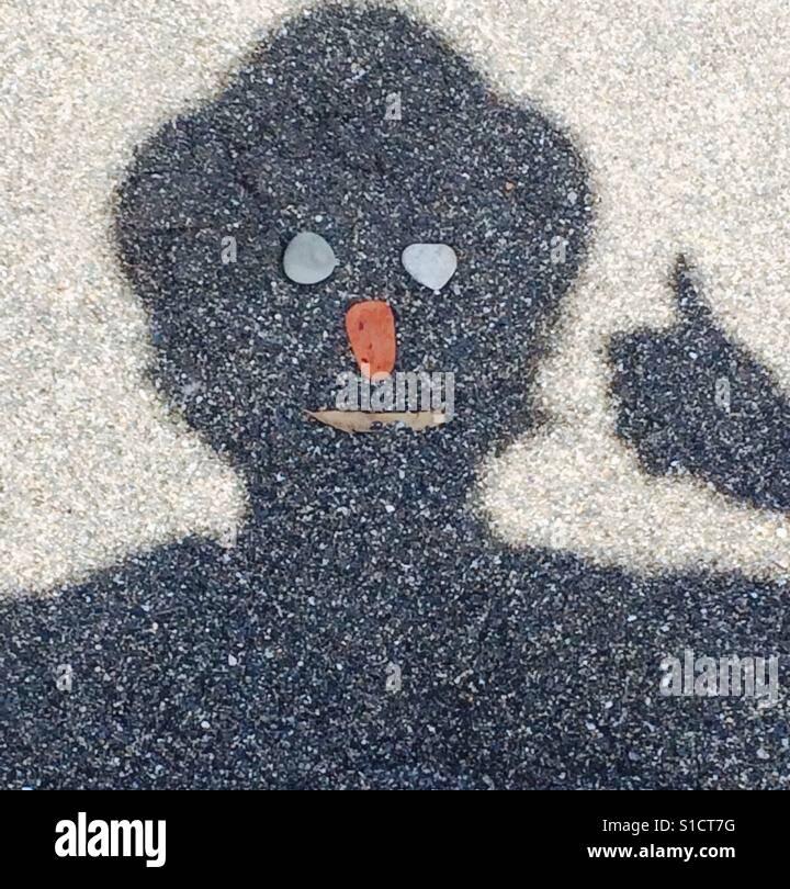 Schatten-Gesicht Stockfoto