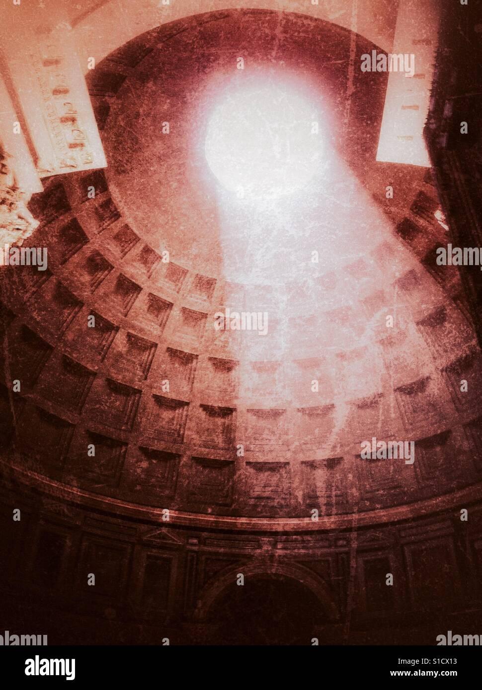 Das Pantheon in Rom im grunge Stockfoto
