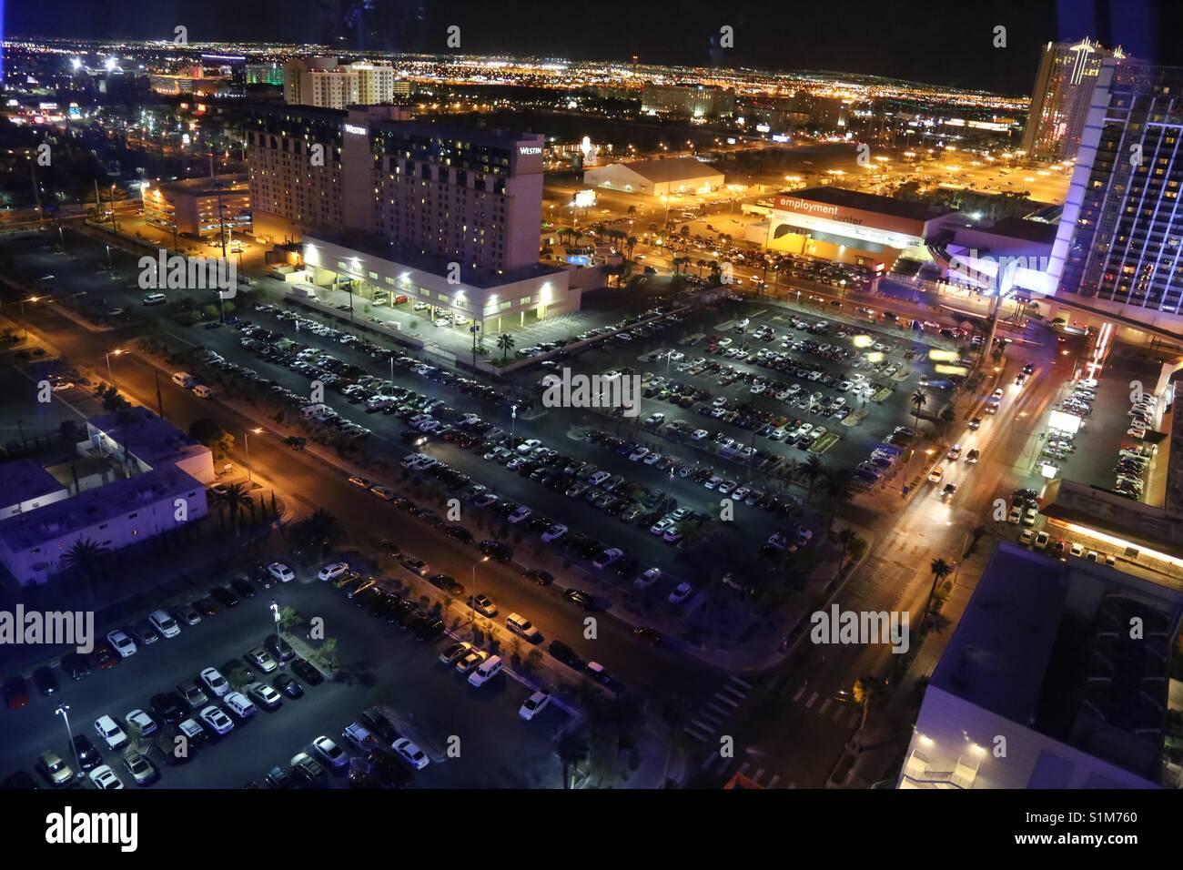 Nacht Straßenbild, in Las Vegas, Nevada. Stockbild