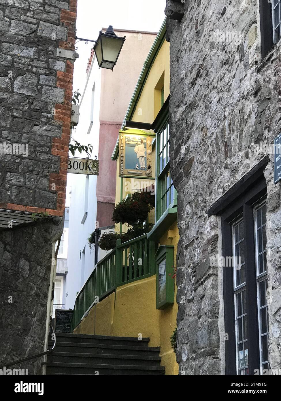 Die plantagenet Restaurant in Tenby Wales, ist das älteste Gebäude in der Küstenstadt und Spiele Stockbild