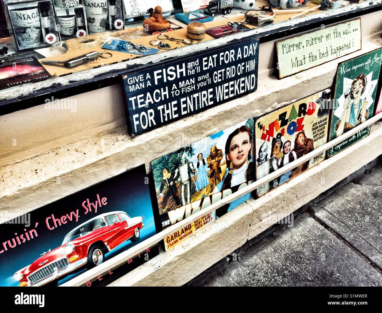 Nostalgische vintage Zeichen. Stockbild